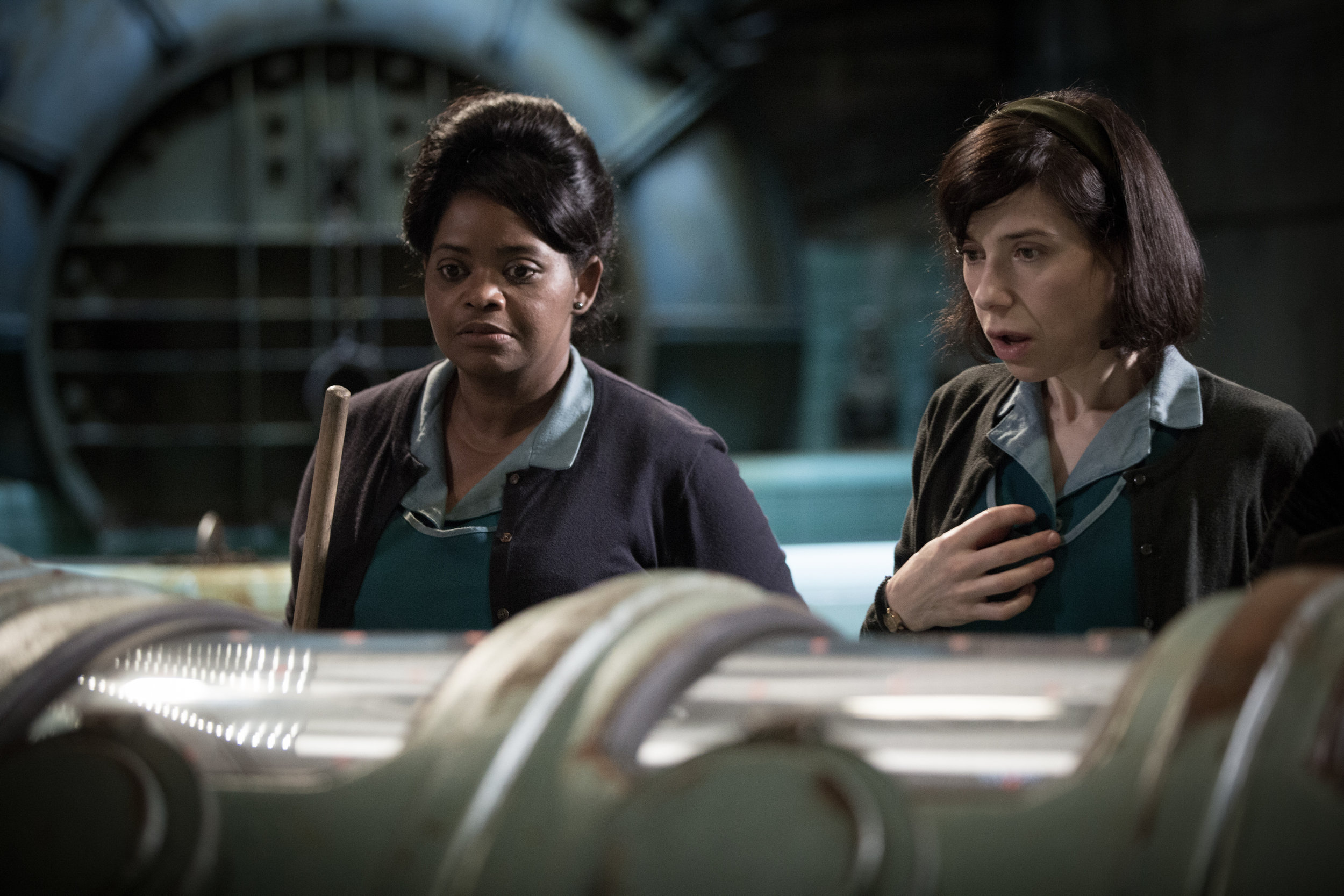 What rough beast? Shape Of Water's Octavia Spencer and Sally Hawkins can't believe their eyes