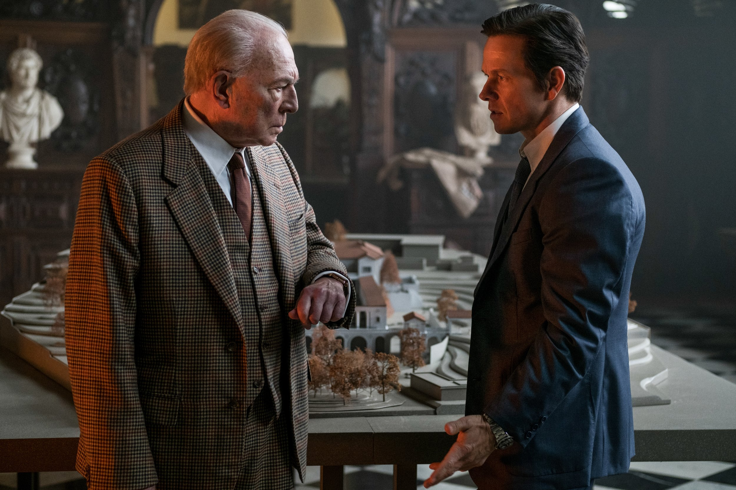 Christopher Plummer, having discovered what Mark Wahlberg was paid for the reshoot