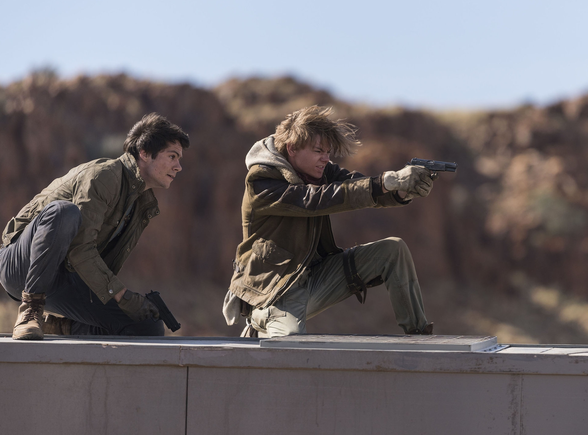 Dylan O'Brien and Thomas Brodie-Sangster go to extreme lengths to avoid a blood test