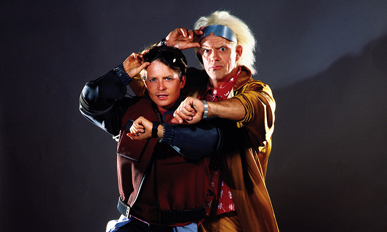 Michael J. Fox and Christopher Lloyd in their defining roles.