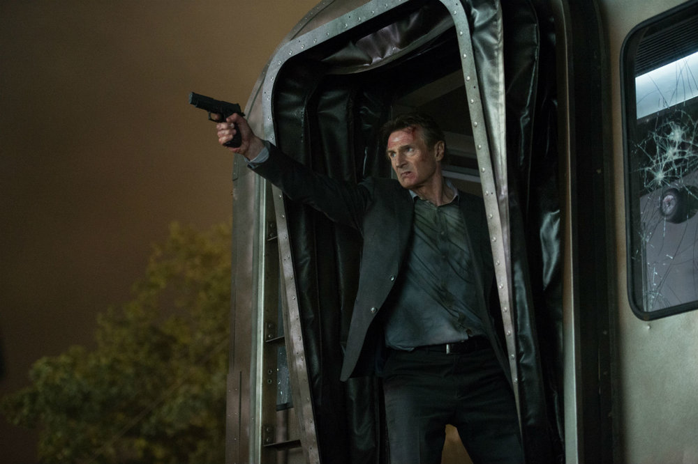 Liam Neeson in The Commuter. 'I'm ready for my close-up, Mr.Hitchcock.'