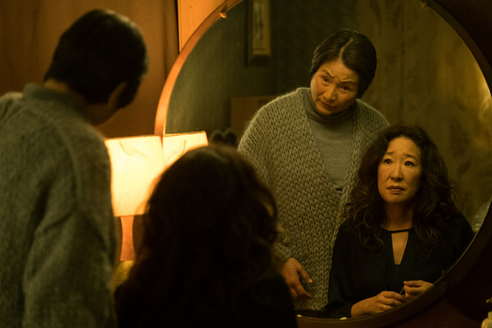The amazing Cheng Pei Pei with Sandra Oh in Meditation Park.