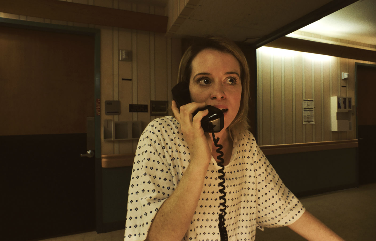 Claire Foy calls the cops in Unsane. Yeah, good luck with that...