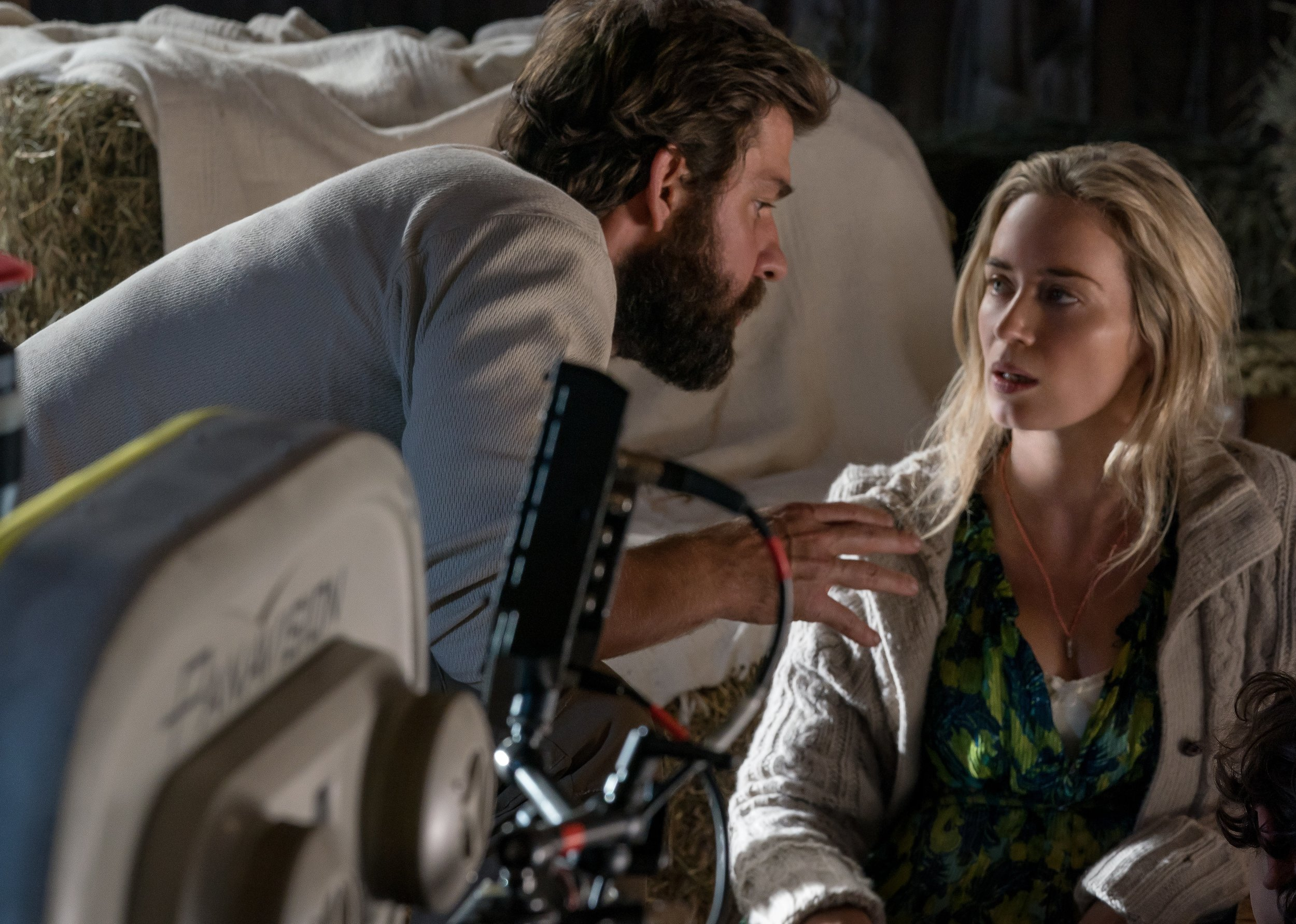 John Krasinski directs his wife Emily Blunt in A Quiet Place
