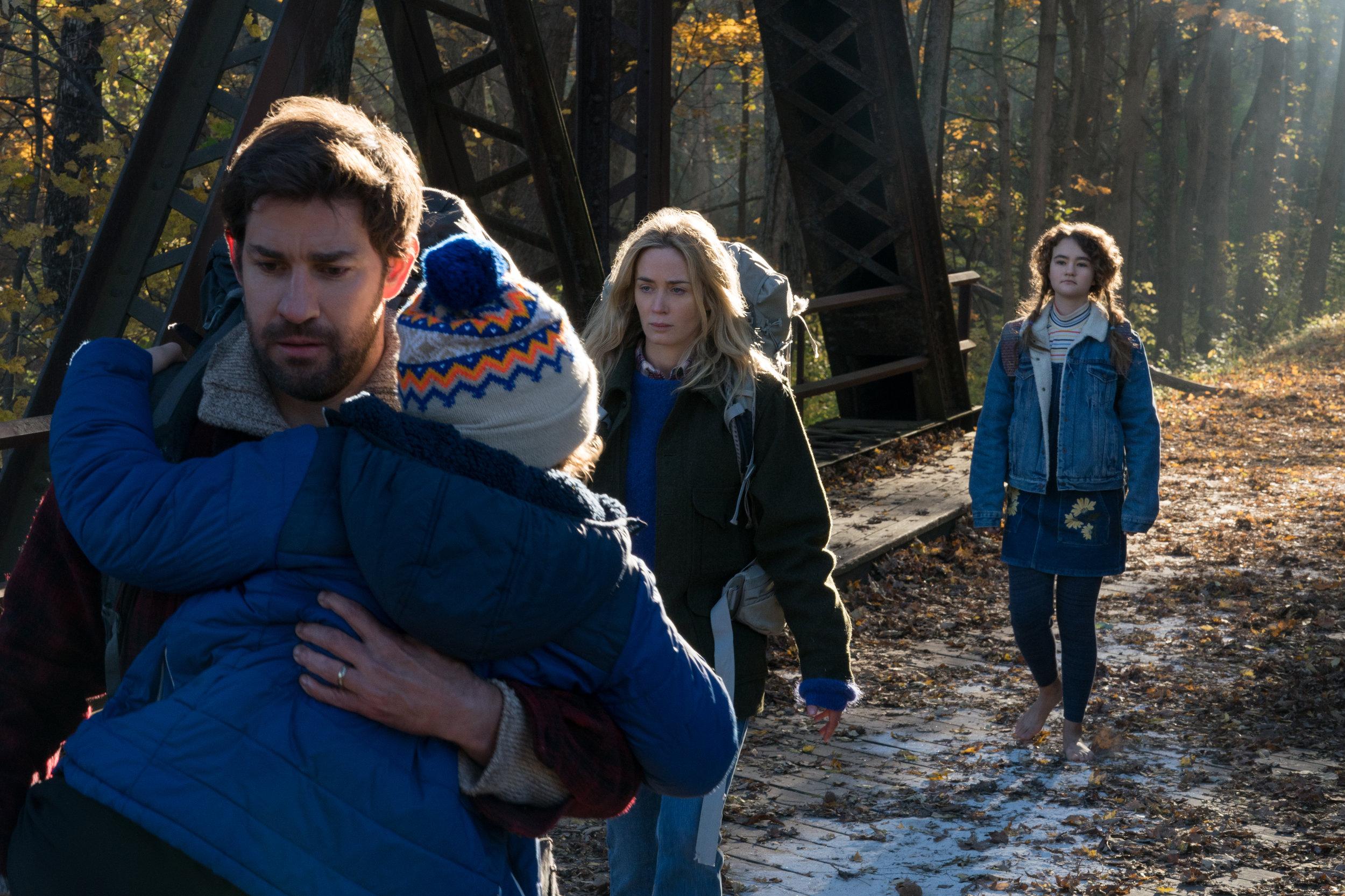 The quietest family you've ever met: John Krasinski, Emily Blunt and Millicent Simmons