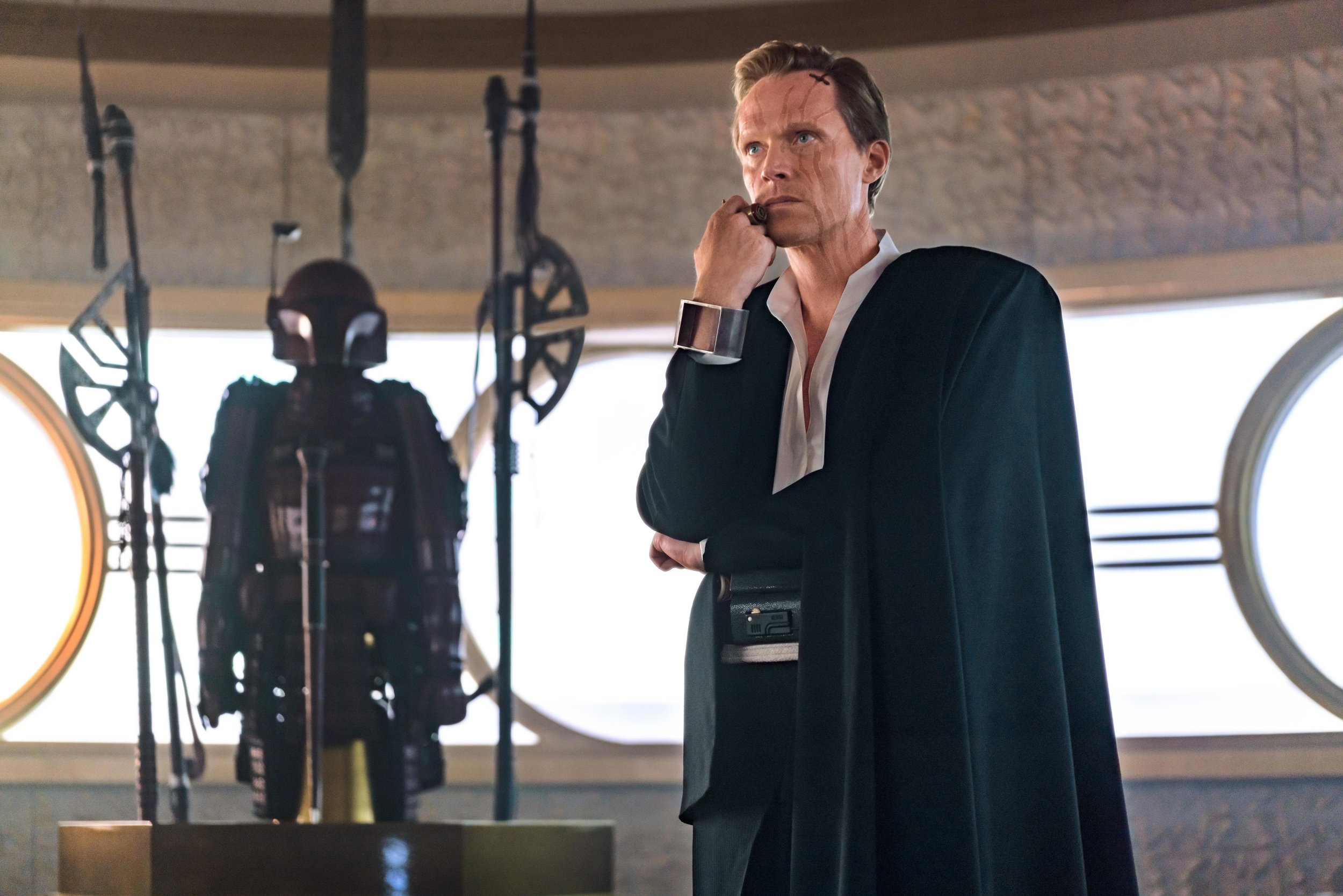 Paul Bettany as the sadistic Dryden Vos in Solo: A Star Wars Story