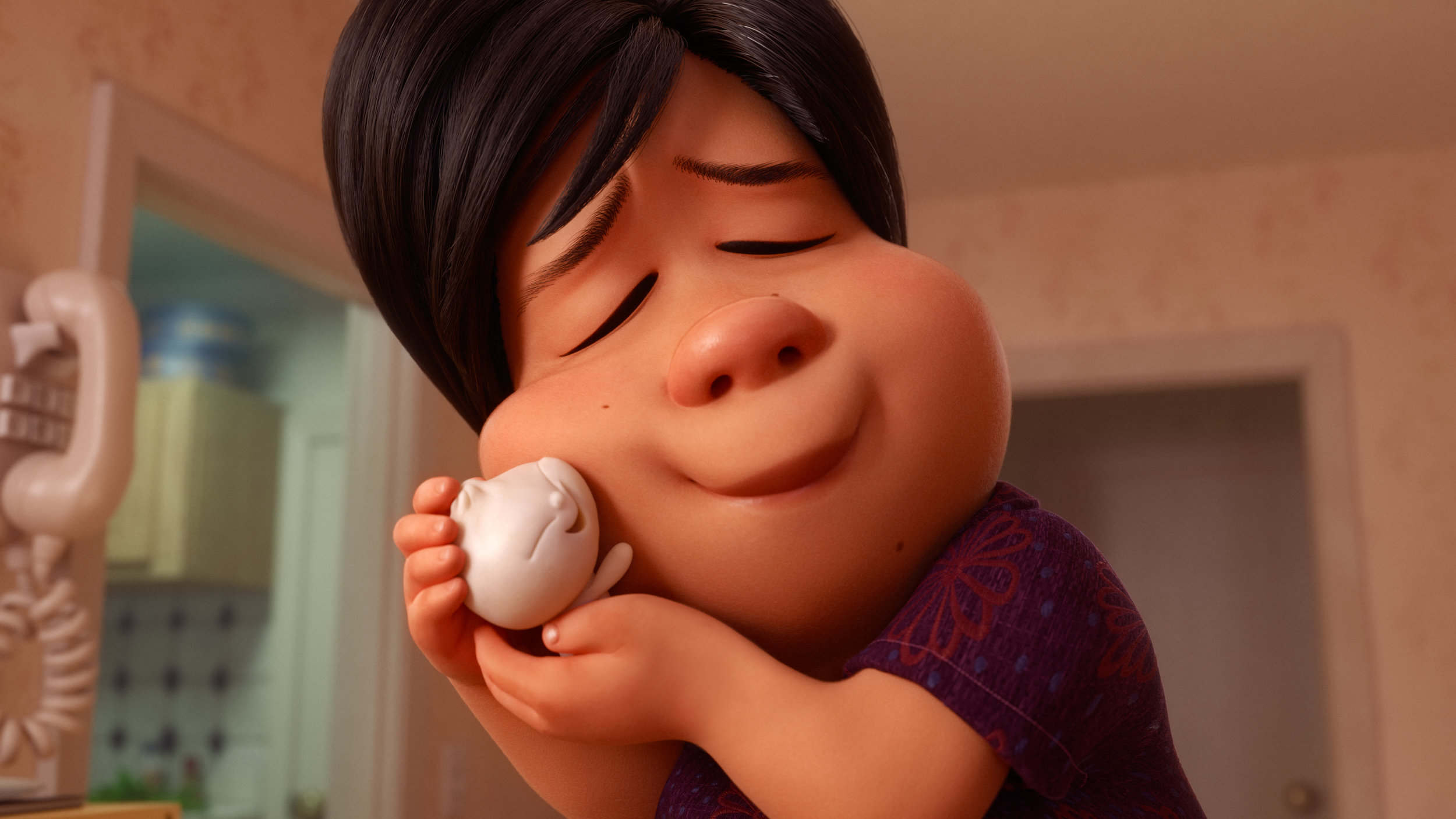 Kids can be so kneady. A scene from Pixar's Bao.