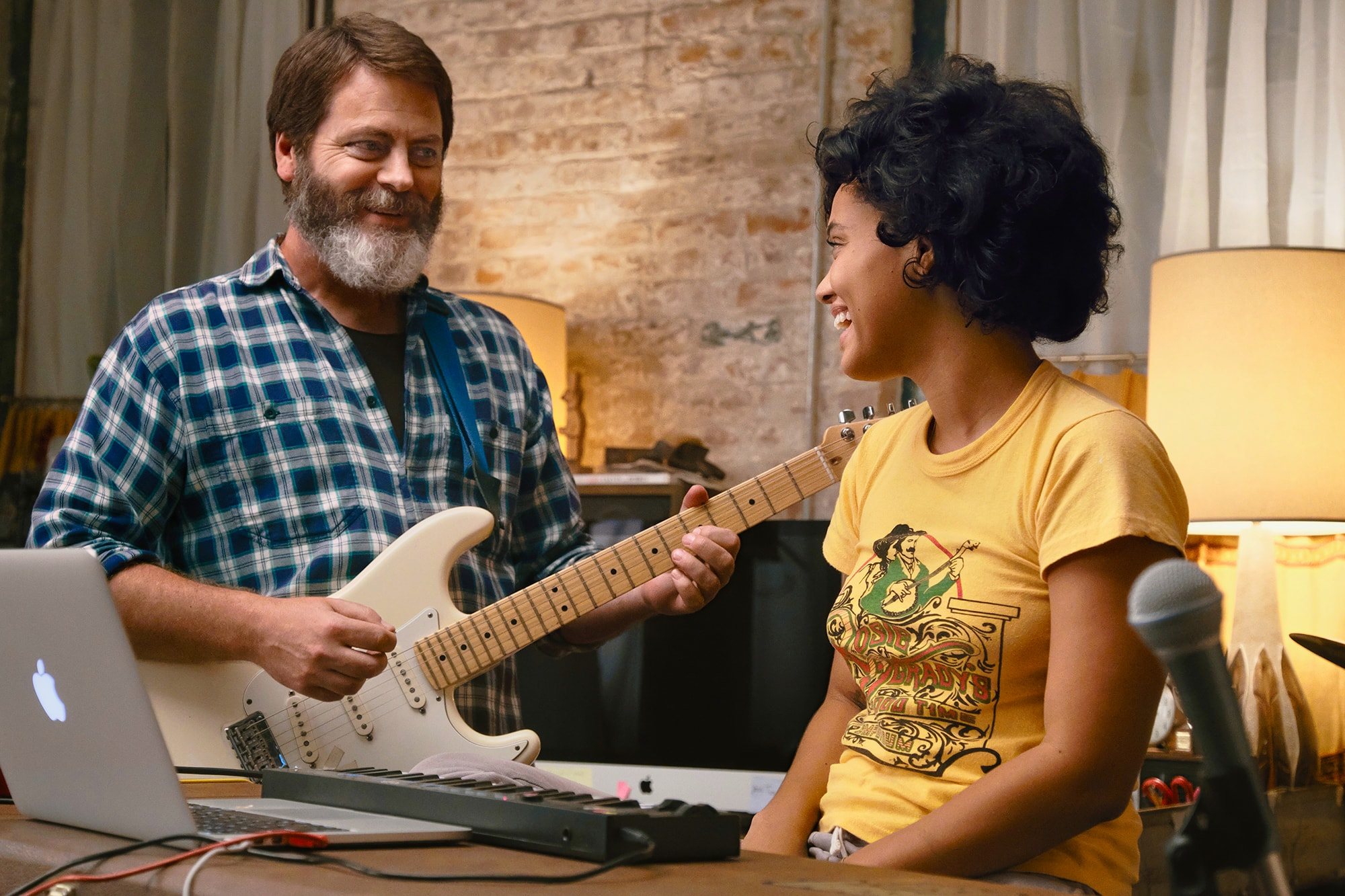 Frank (Nick Offerman) and his daughter Sam (Kiersey Clemons) create a Spotify hit.