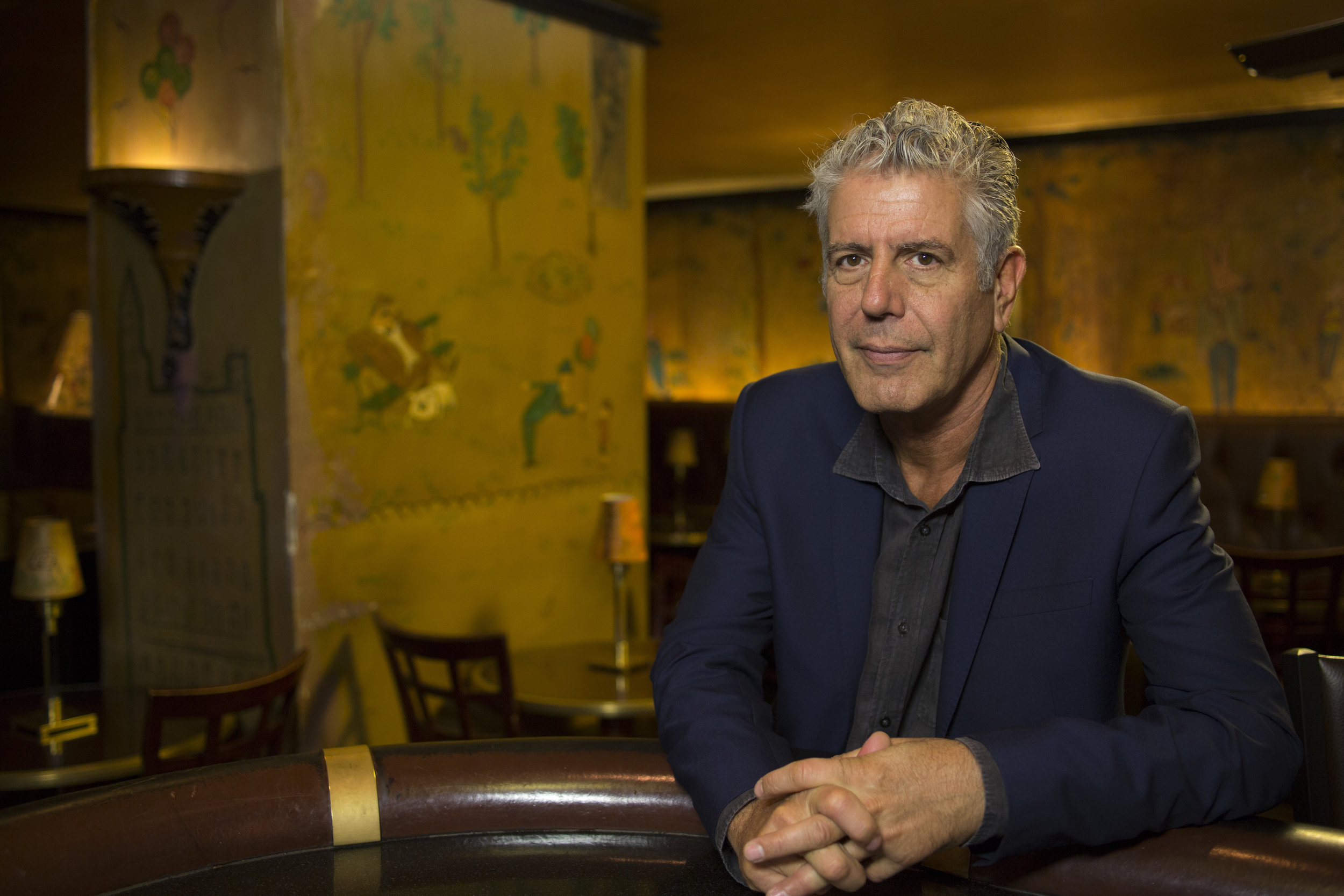 Poignantly, the late Bourdain is a contemporary celeb who touts the Carlyle's Old World charm.