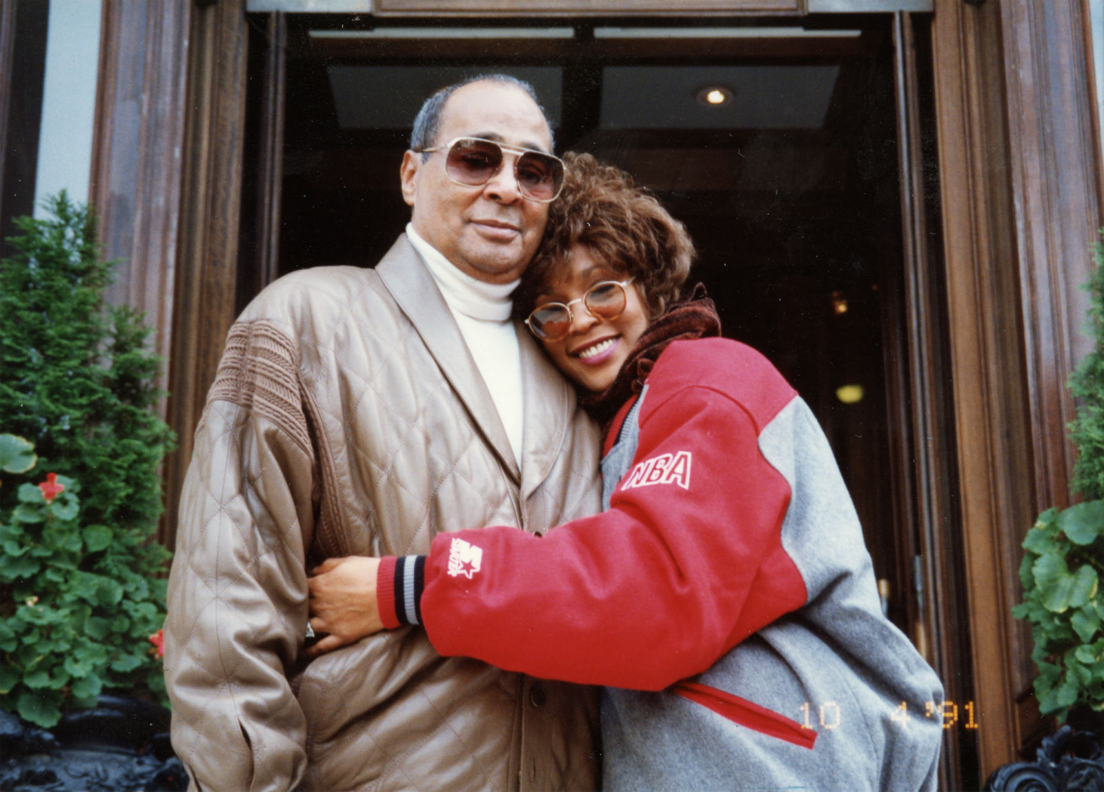 Whitney and father John Houston: he couldn't count the money fast enough.