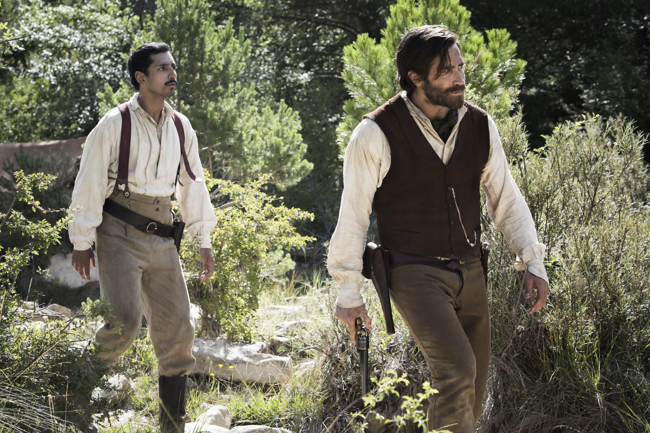 Jake Gyllenhaal and Joaquin Phoenix in The Sisters Brothers