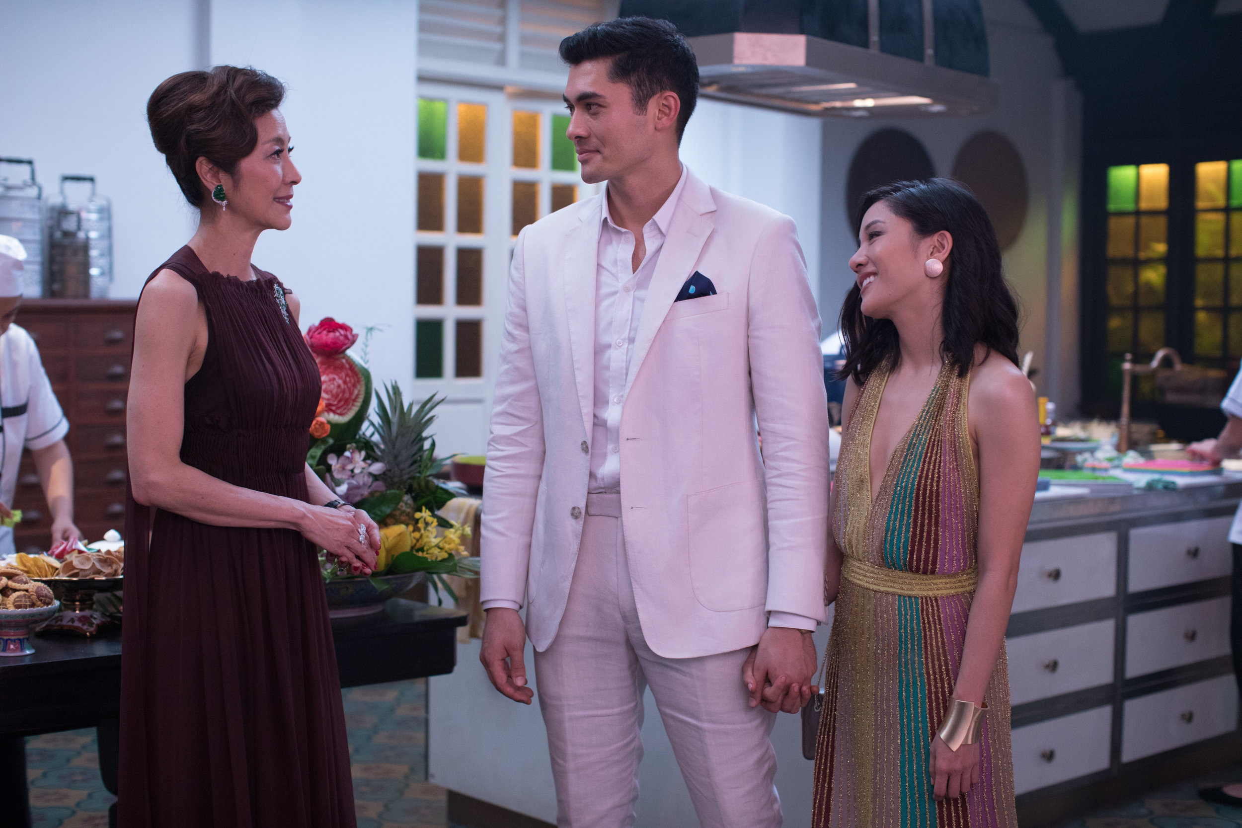 Meet the (crazy rich) family. Fielding & Wu meet the groom's mom, Michelle Yeoh