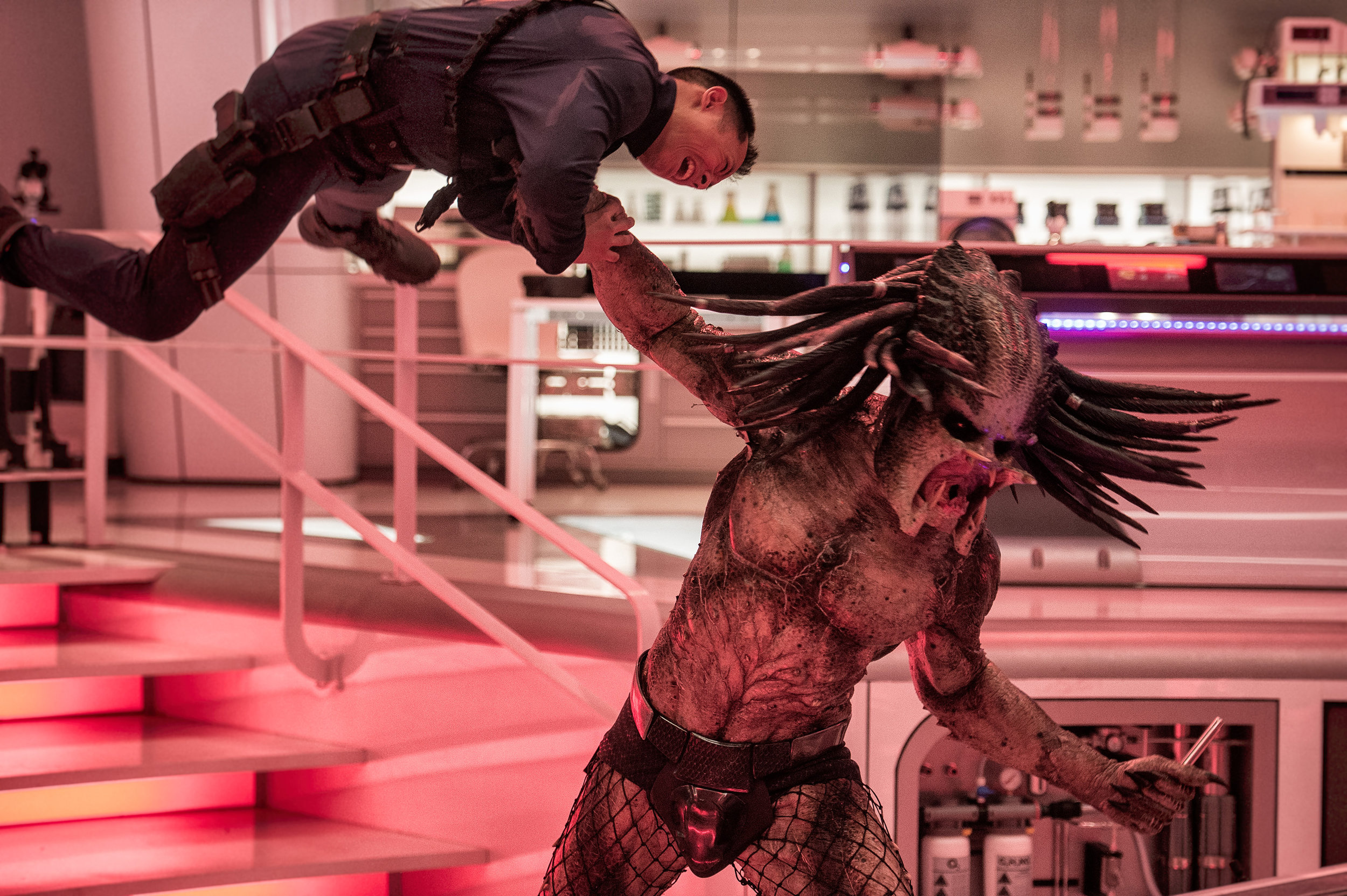 The Predator checks himself out of hospital. Time for a night on the town.