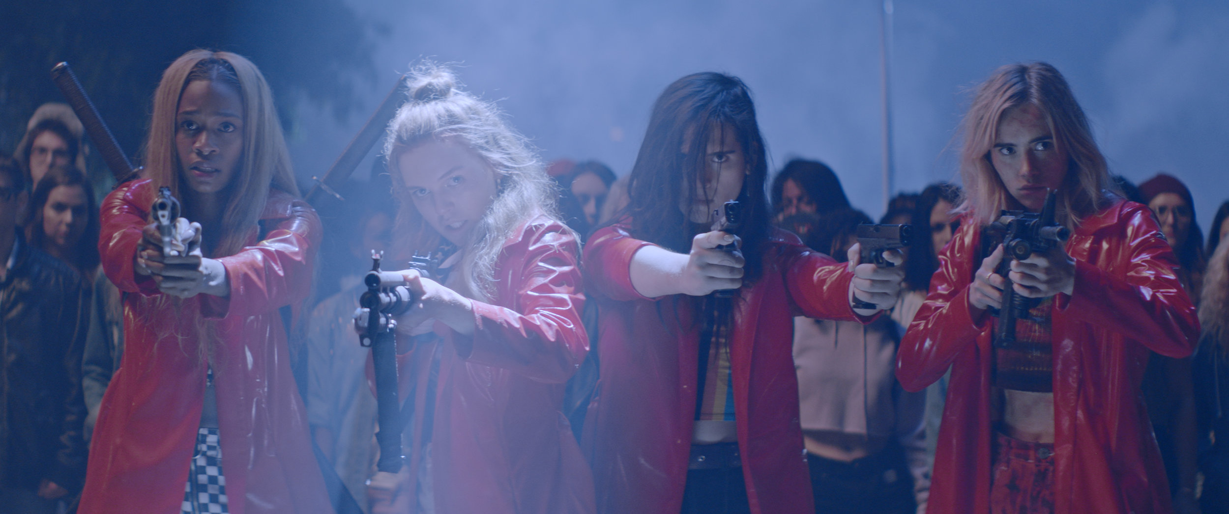Abra , Odessa Young, Hari Nef and Suki Waterhouse) in Assassination Nation