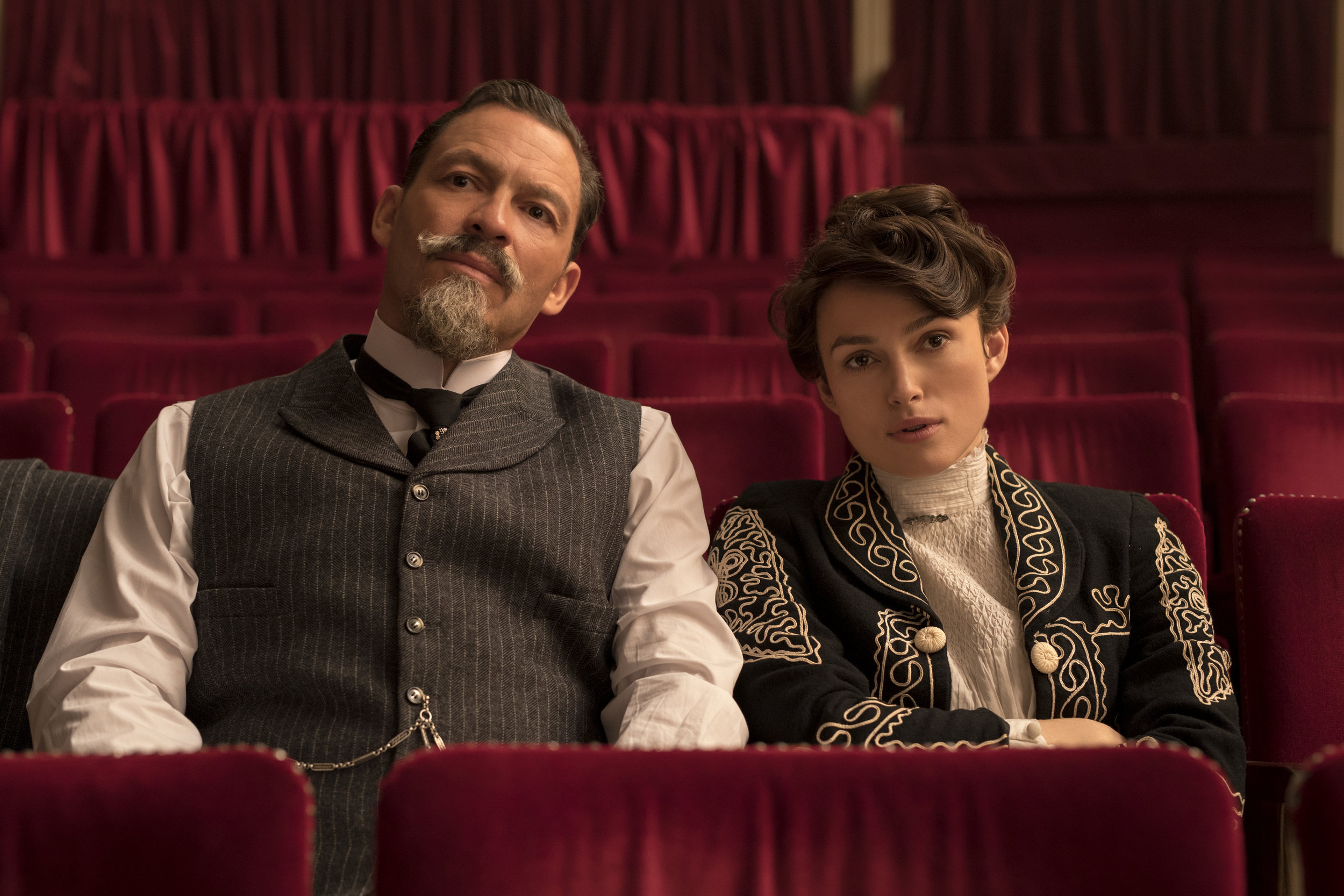 West as Willy and Knightley as Colette, a literary giantess and her Svengali