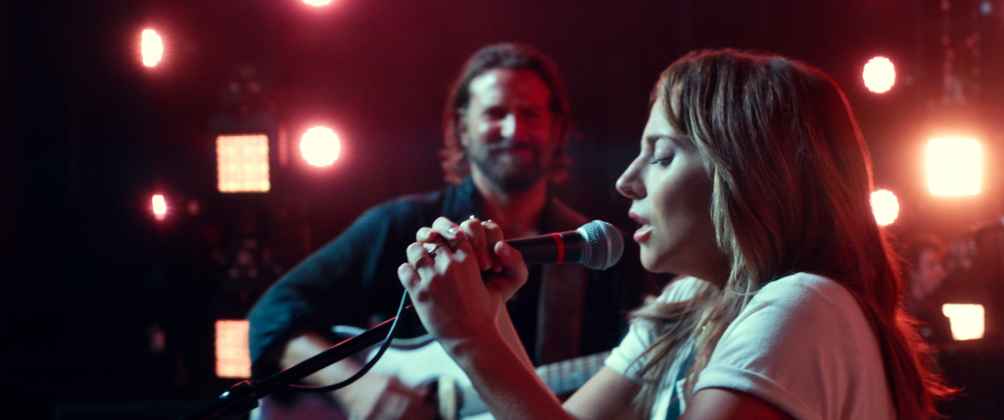Bradley Cooper introduces a raw Lady Gaga to the bright lights in A Star Is Born