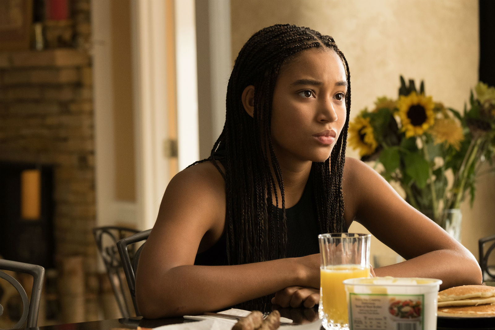 Amandla Stenberg: character living in two worlds.