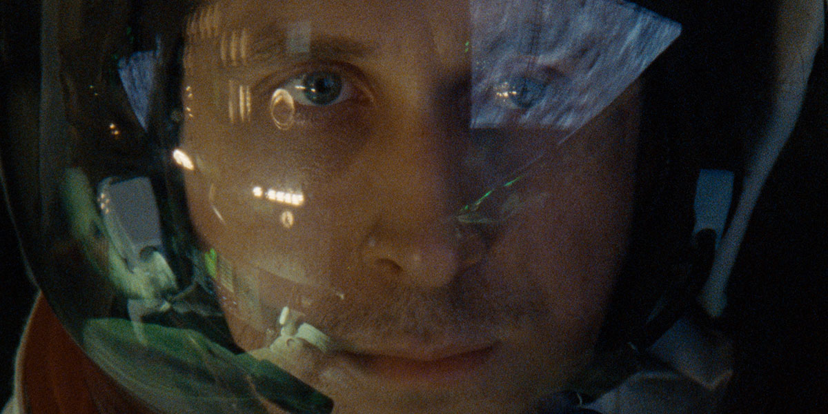 """Ryan Gosling is both """"spam in a can,"""" and a man trapped inside himself in First Man"""