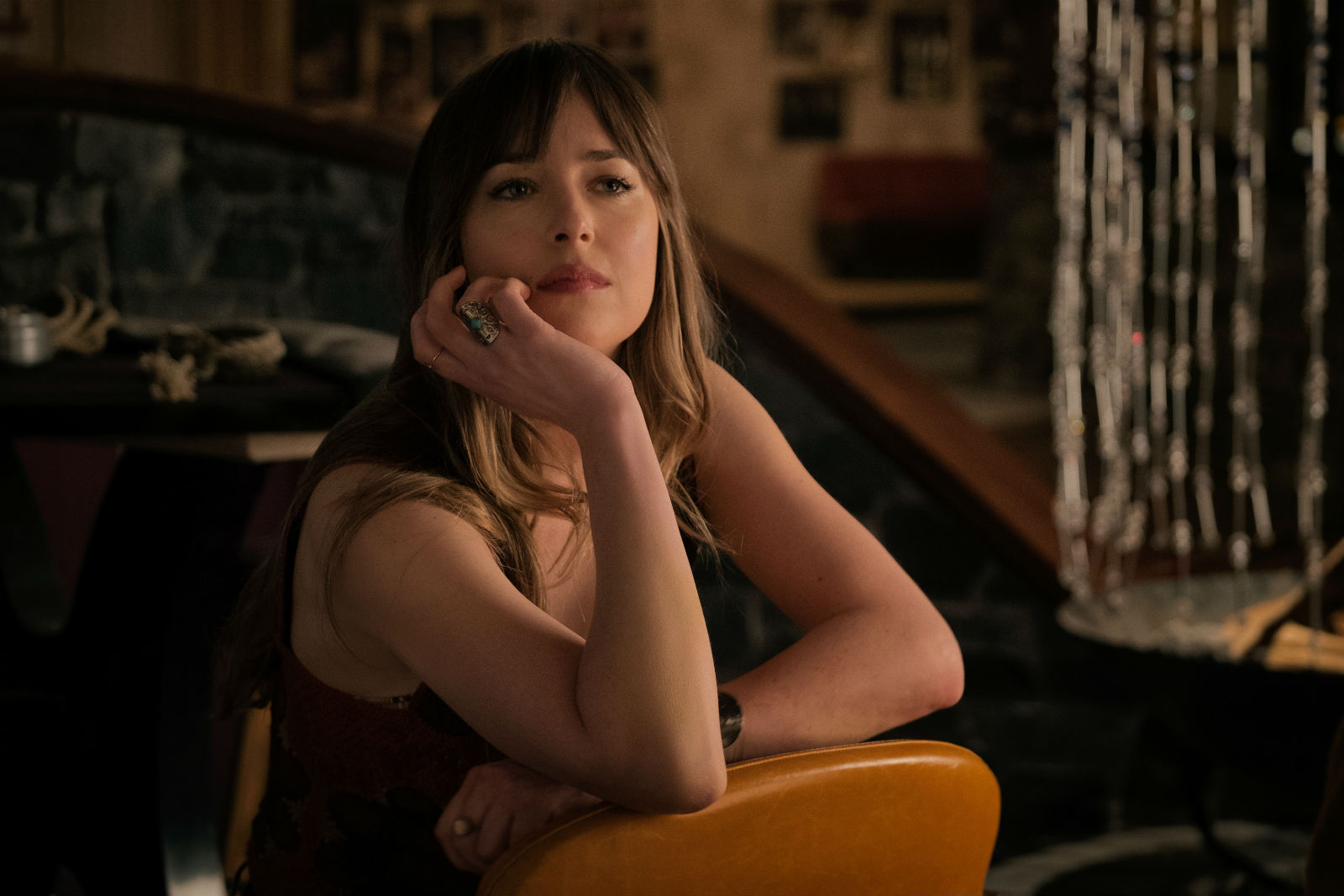 Dakota Johnson in a scene from Bad Times at the watchable El Royale.