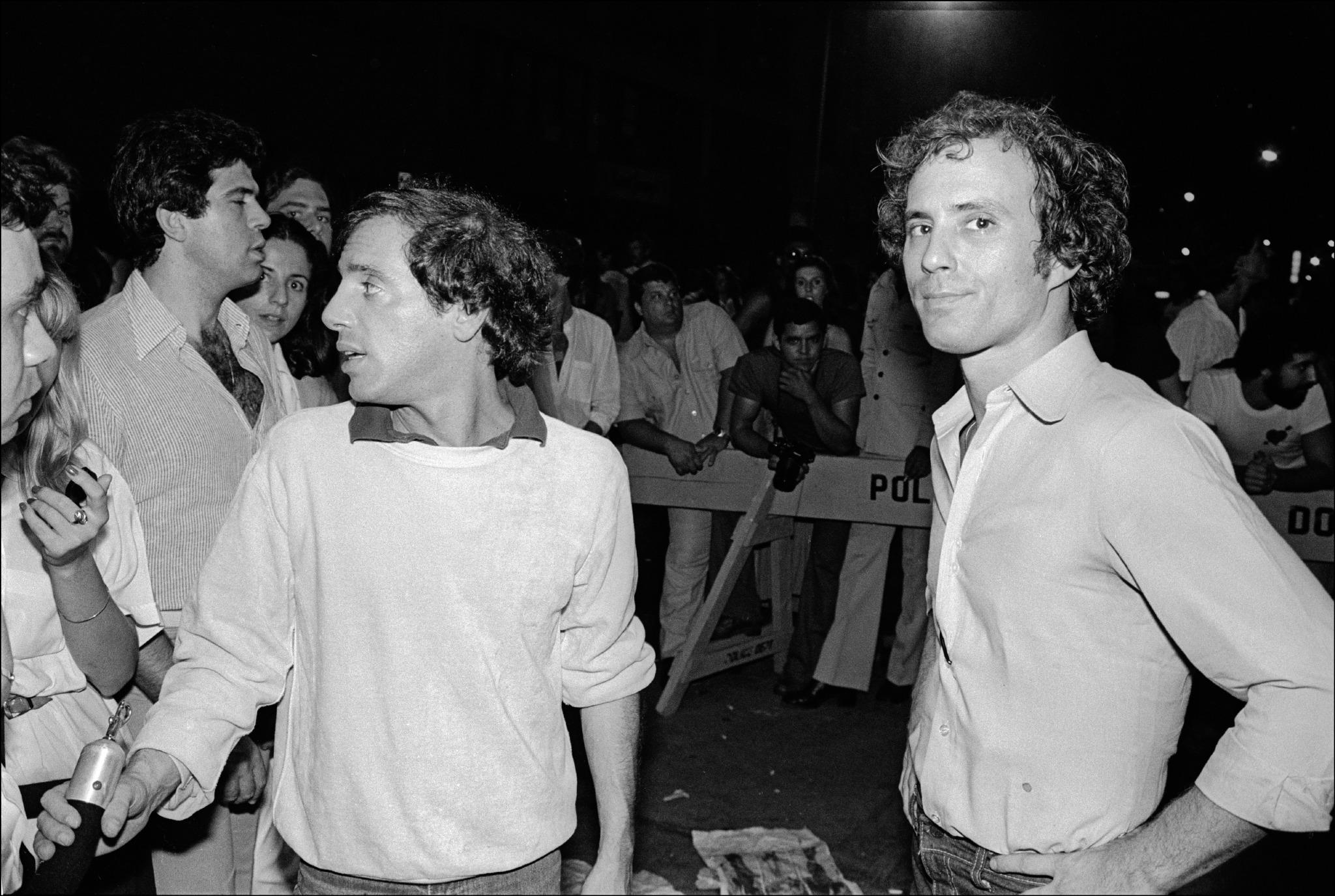 Studio 54's Steve Rubell (left) and no-longer-silent partner Ian Schrager