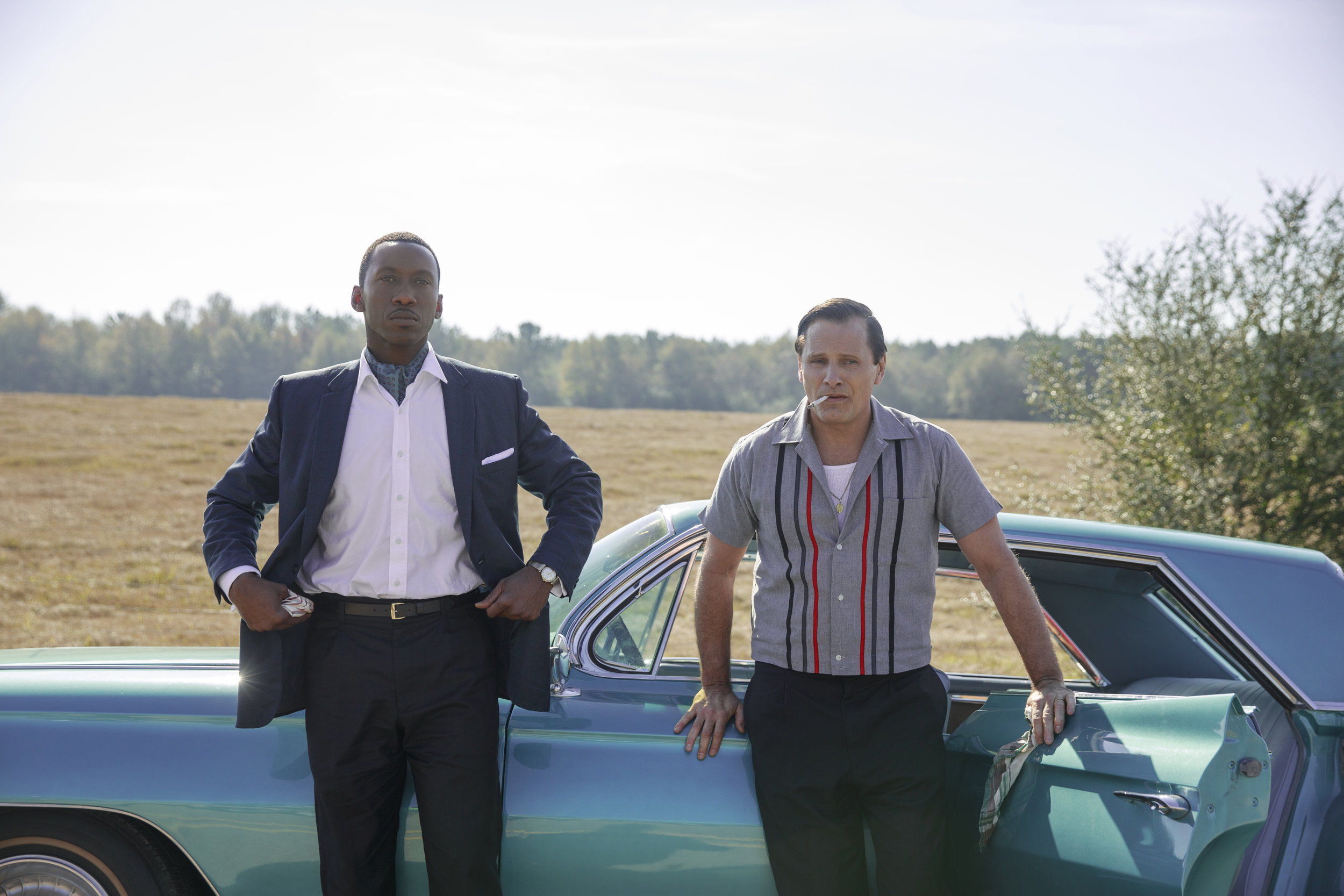 Mahershala Ali and Viggo Mortensen in Green Book.