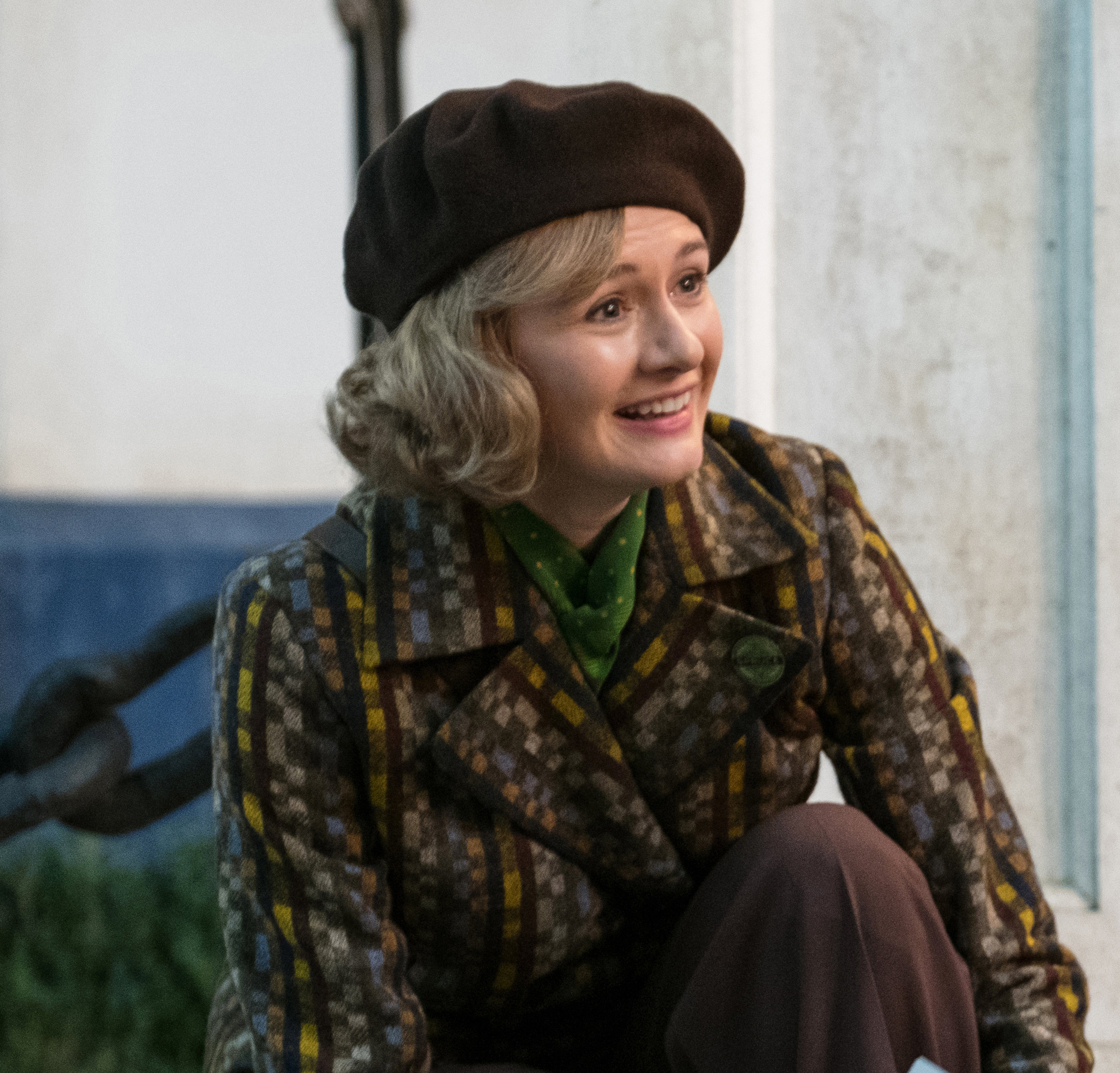 Emily Mortimer as a grown-up Jane in Mary Poppins Returns