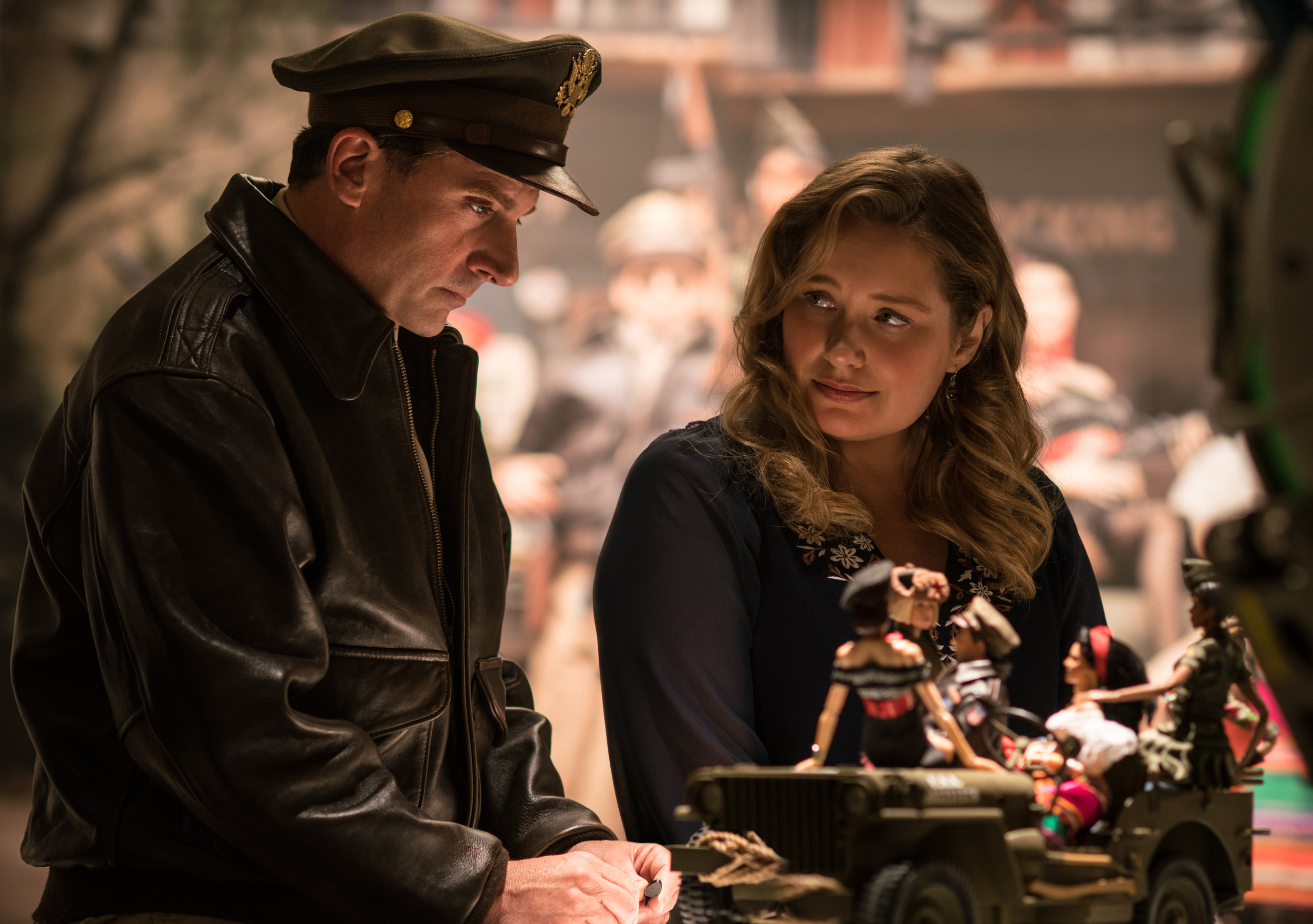 Steve Carell and Merritt Wever play dolls for a purpose in Welcome to Marwen