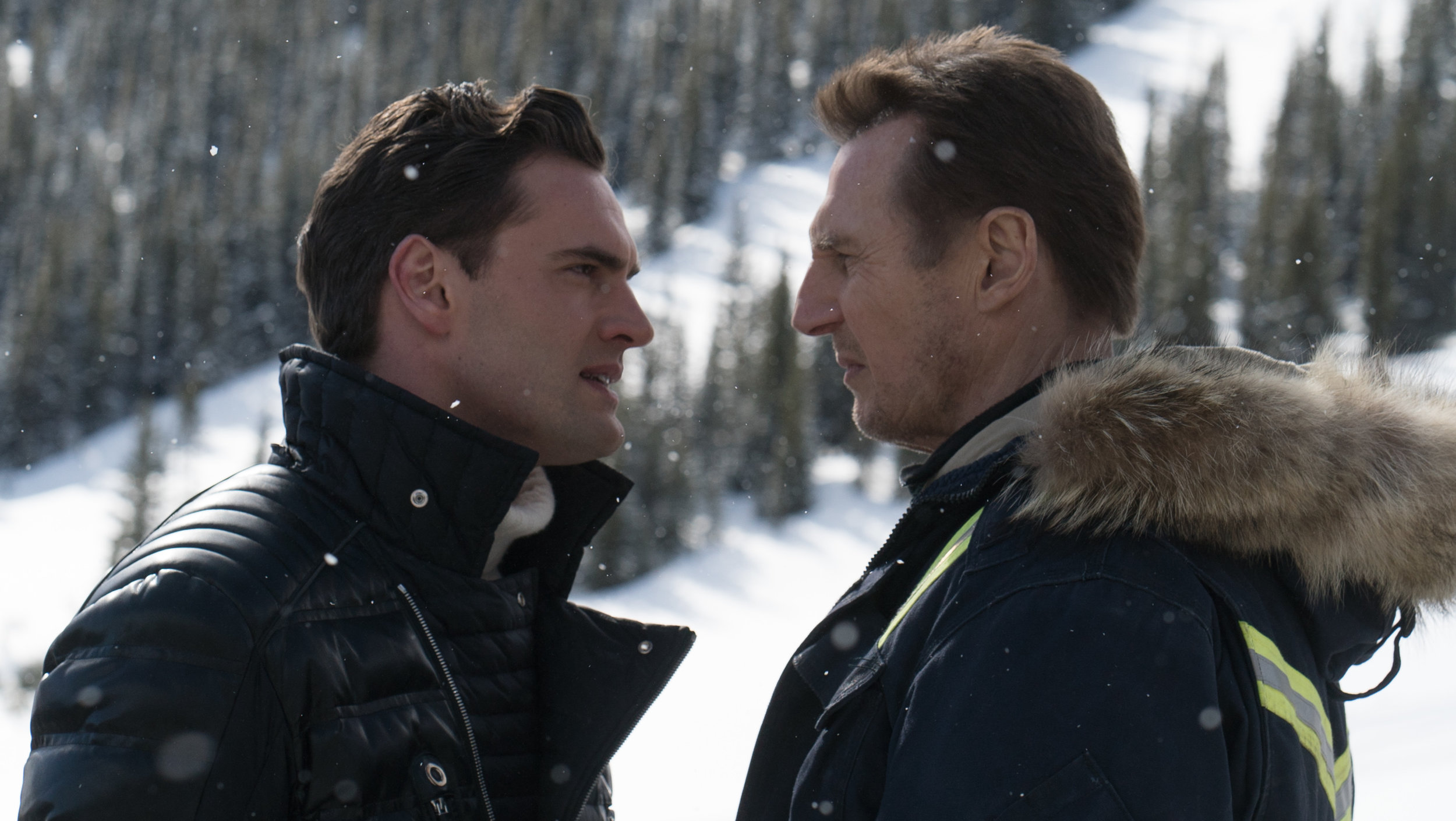 Liam Neeson (Nels Coxman) and Tom Bateman (Viking) in COLD PURSUIT.jpg