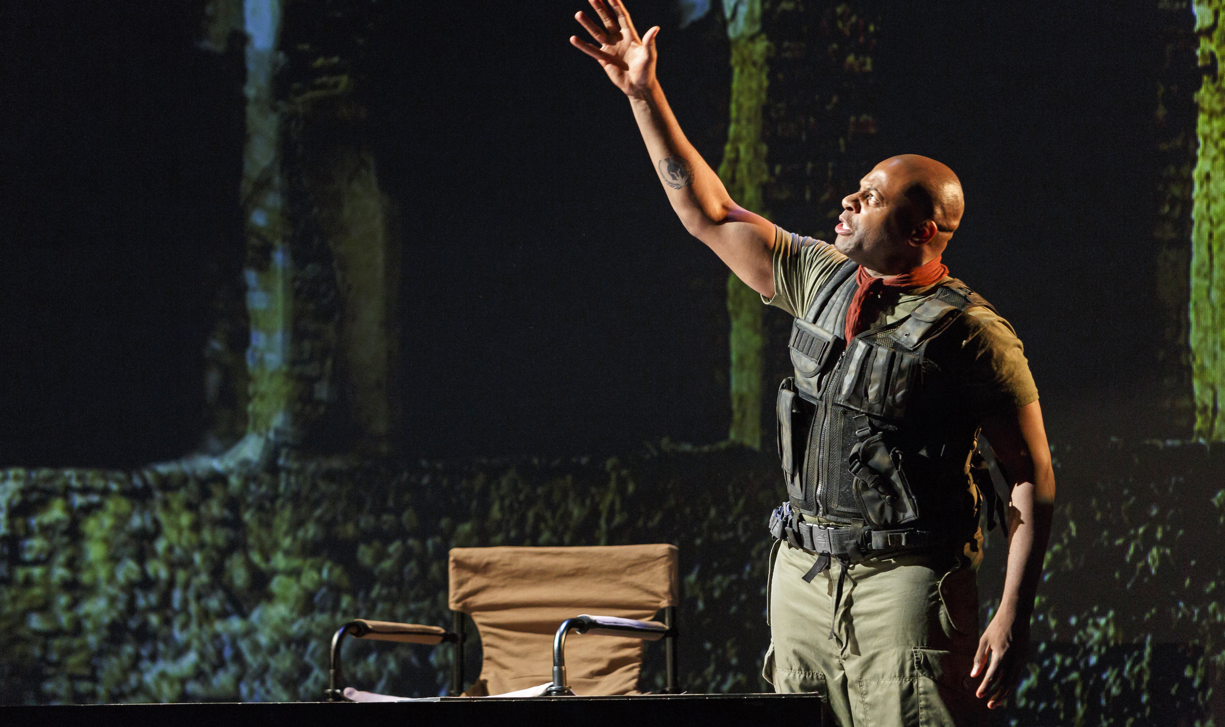 Andre Sills as the imposing, militaristic protagonist in Shakespeare's Coriolanus, in Cineplexes Saturday