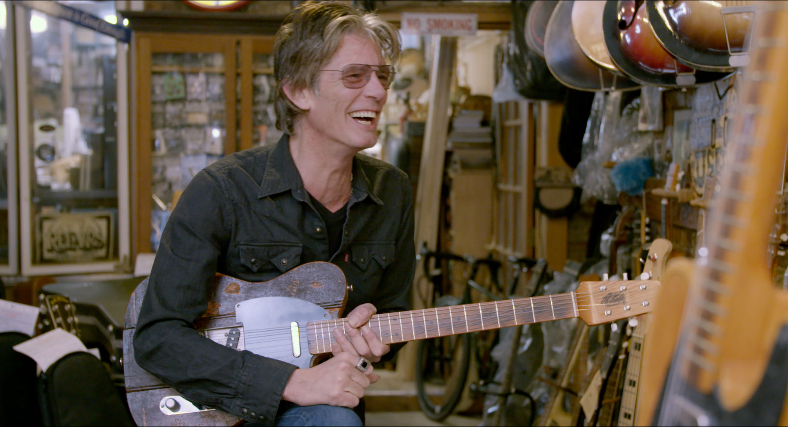 Charlie Sexton  in the doc Carmine Street Guitars.