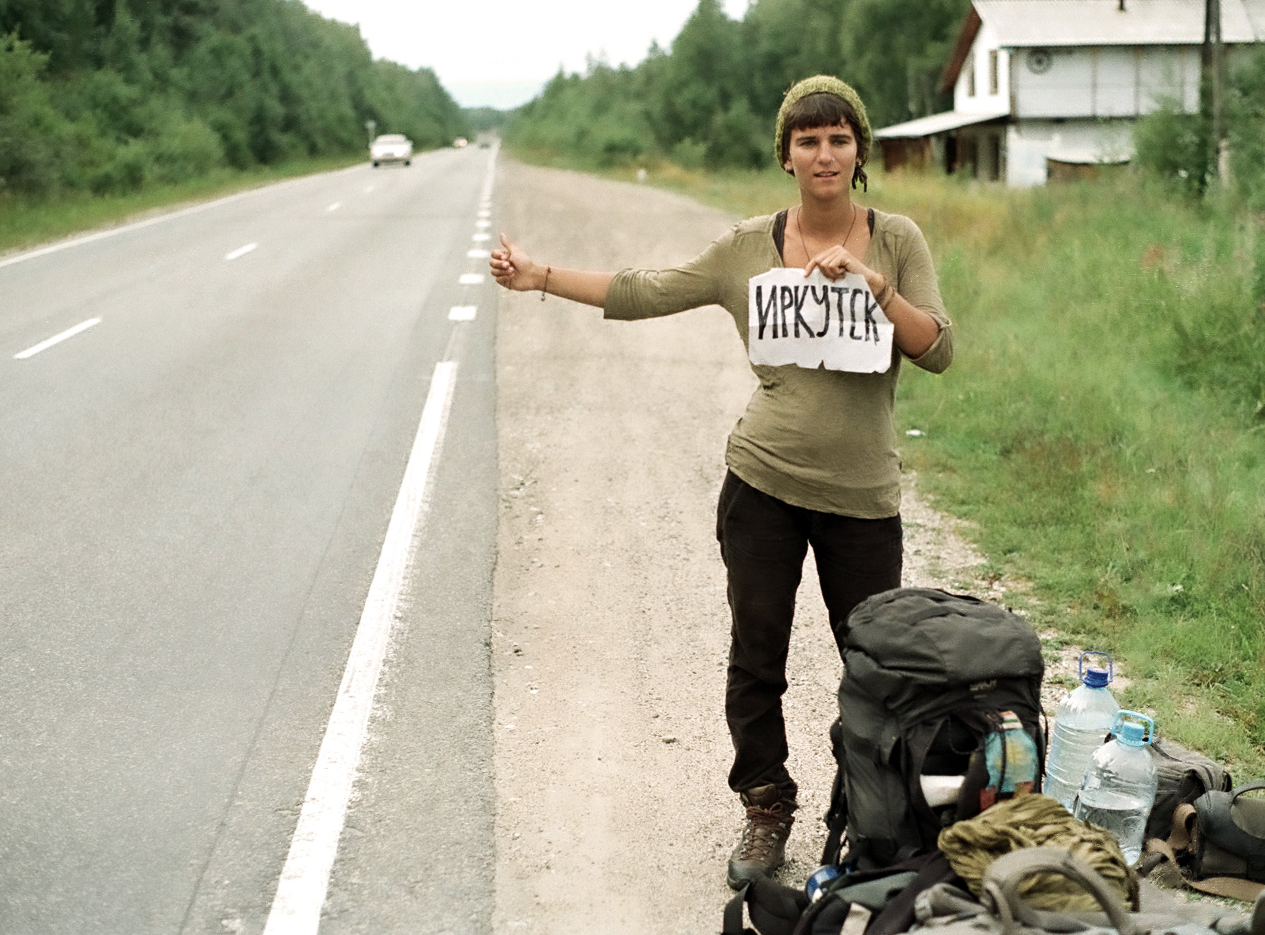 It's summer in Siberia as Gwen tries to get a lift to Irkutsk