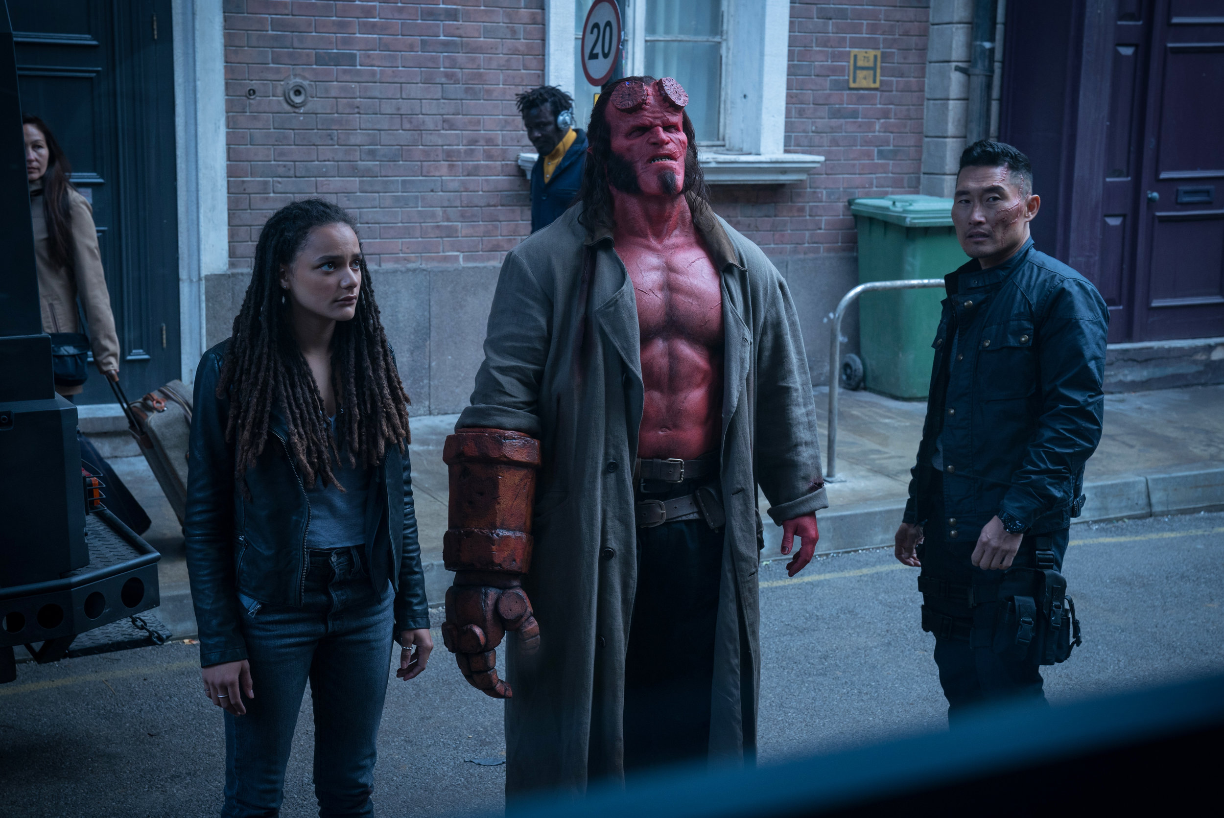 Sasha Lane, David Harbour and Daniel Dae Kim try to stop an evil witch from something something