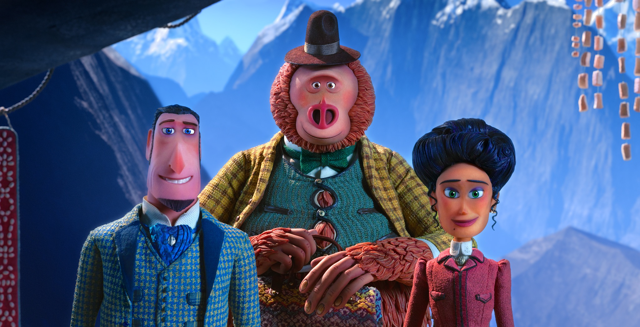 Sir Lionel Frost, Mr. Link and Lady Adelina Fortnight make their way to the HImalayas in Missing Link