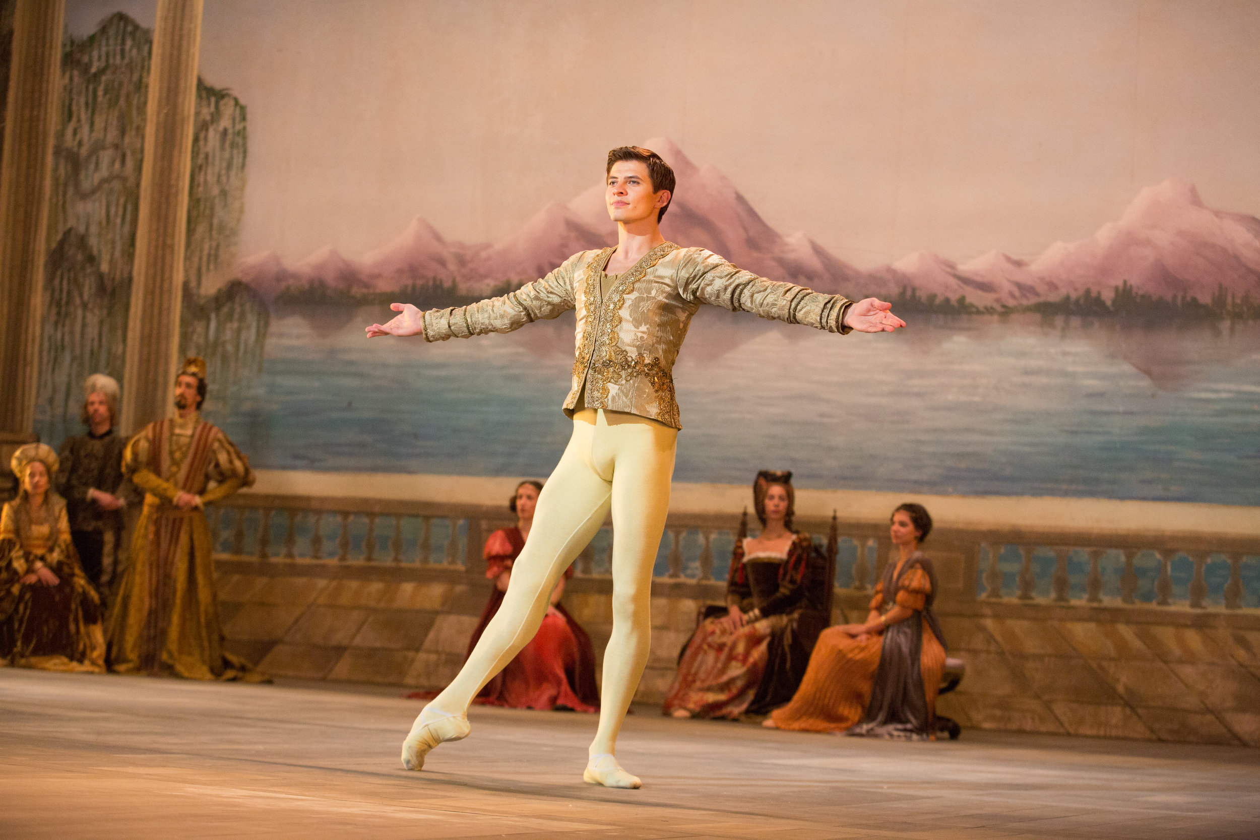 Ukrainian ballet star Oleg Ivenko portrays the young Rudolf Nureyev in The White Crow
