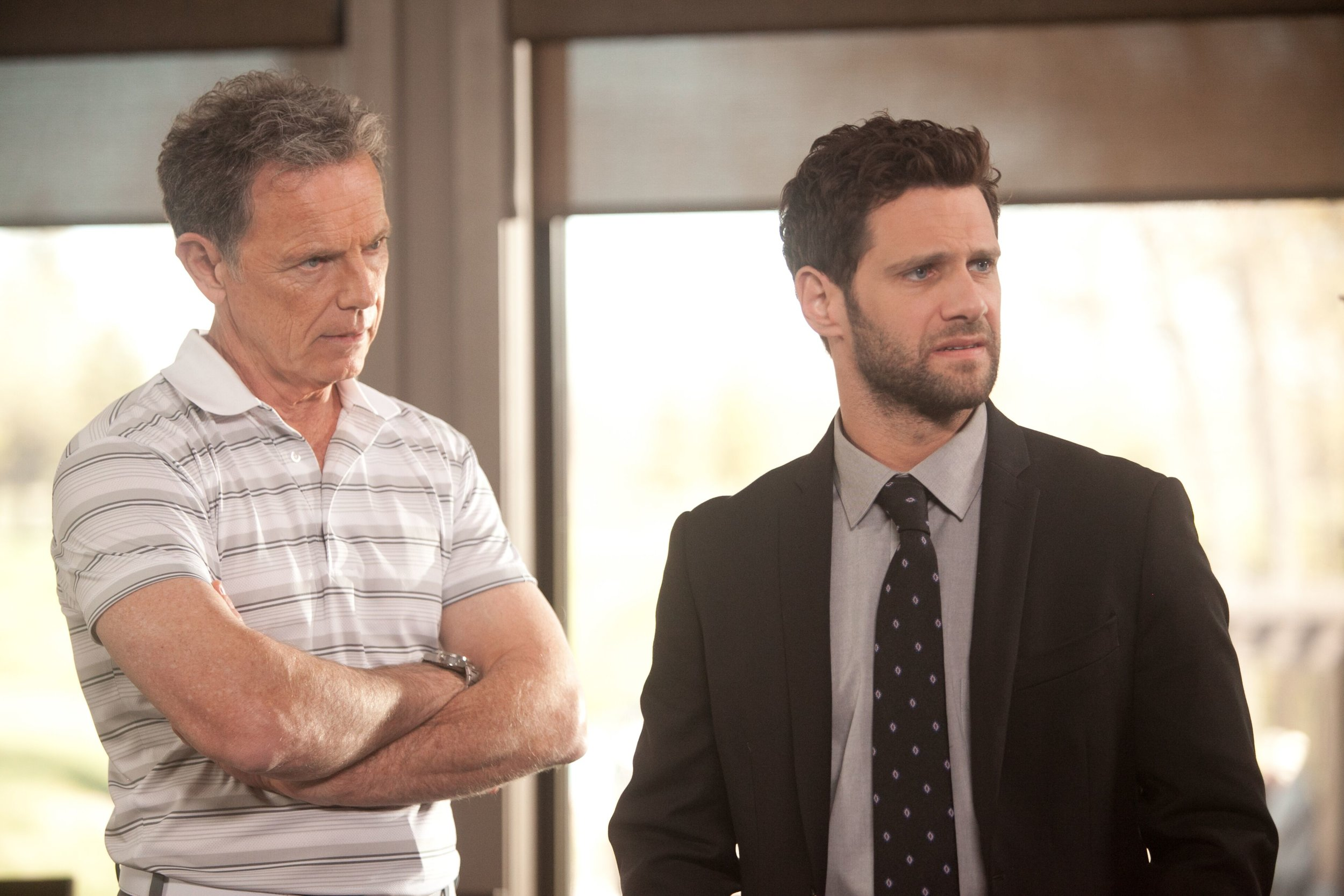 Bruce Greenwood plays Jeff, a golf bum guiding Ken (Justin Bartha) through some unpleasant family truths.