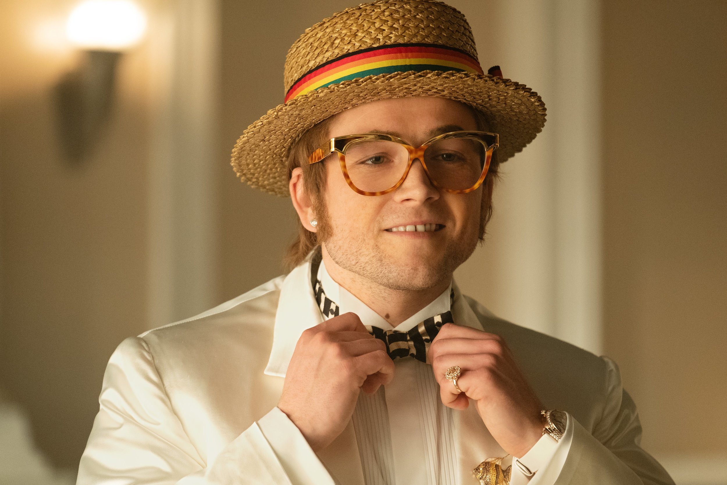 Taron Egerton is ready for his close-up as Elton John in Rocketman.