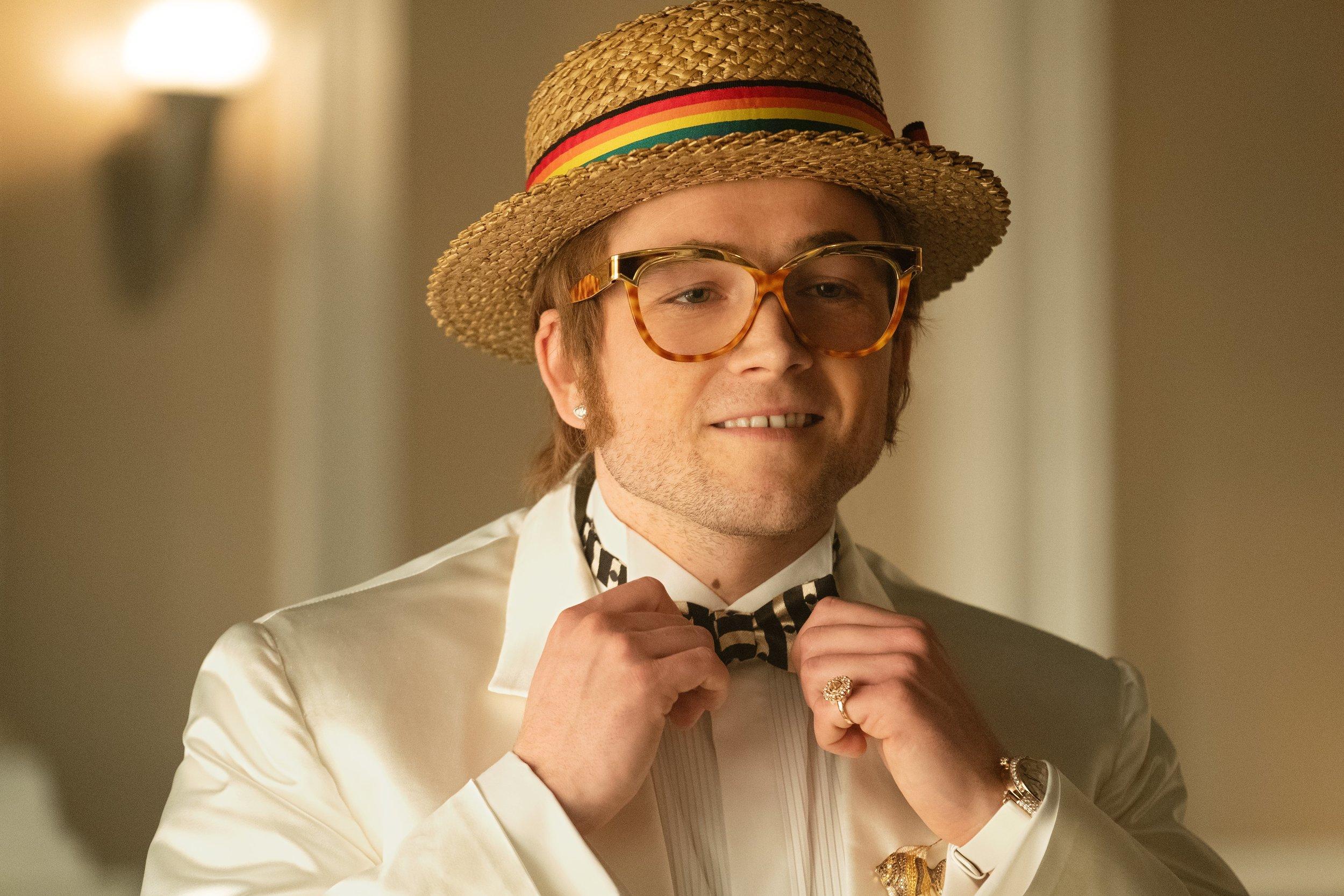 Taron Egerton is ready for his close-up as Elton John in Rocketman.