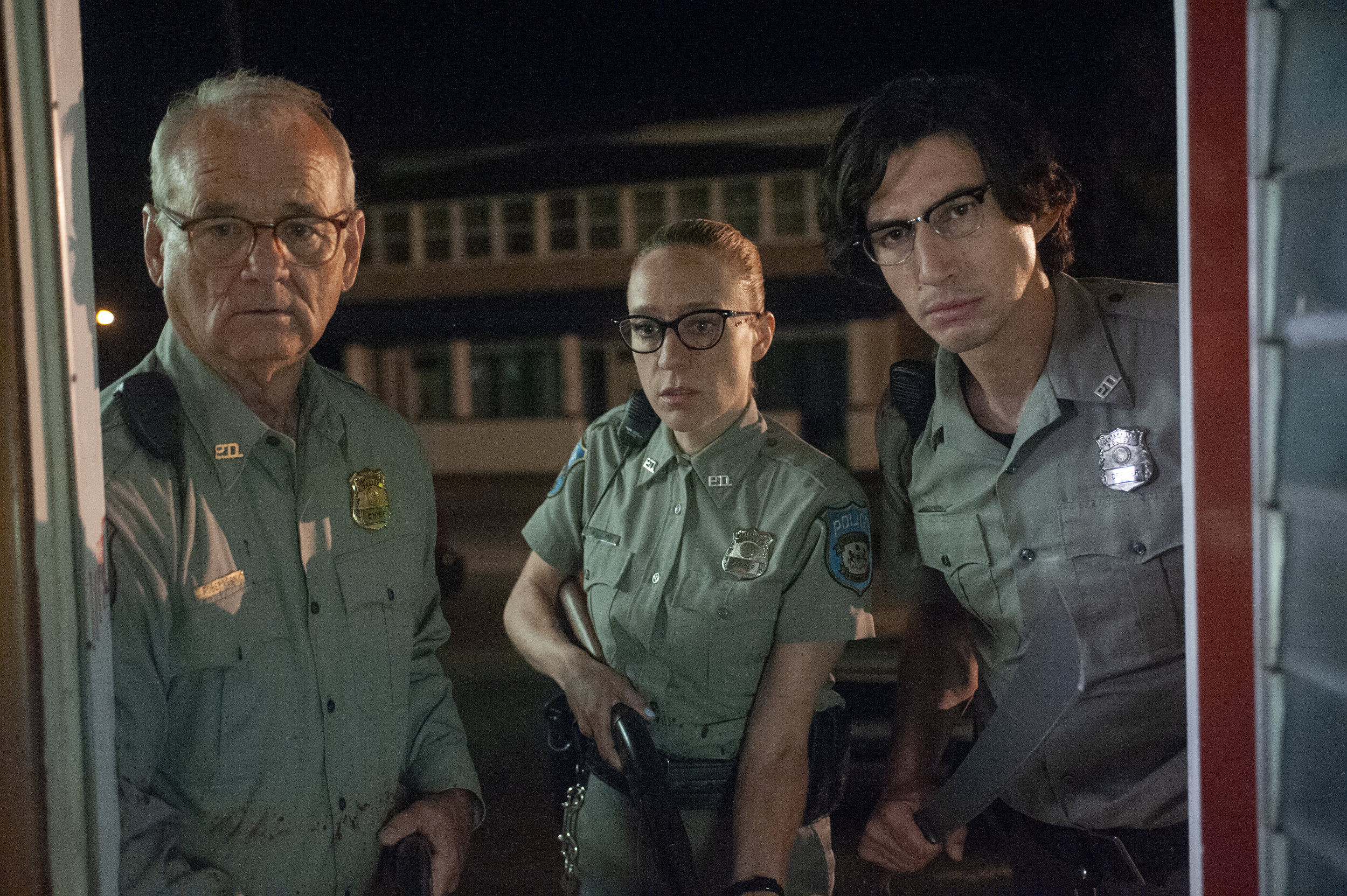 Small-town cops Bill Murray, Chloe Sevigny and Adam Driver lock and load for a zombie invasion