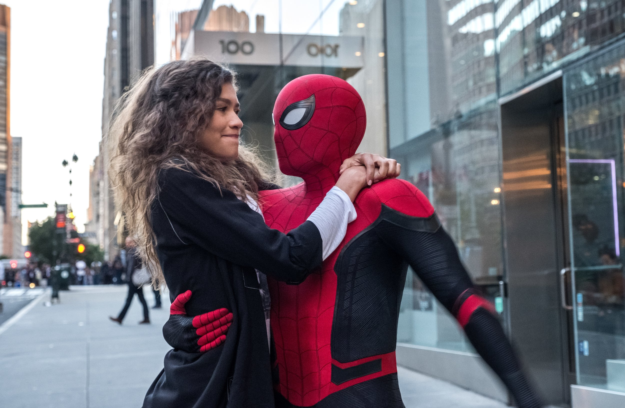 MJ (Zendaya) and Spidey. Which would you rather do, get the villain or get the girl?