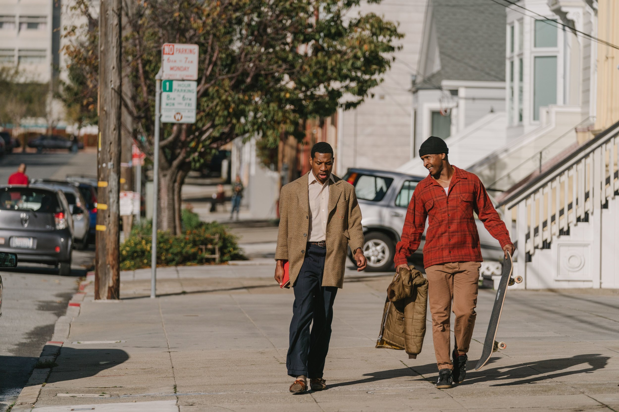 Jonathan Majors and Jimmie Fails in the week's best reviewed movie The Last Black Man in San Francisco