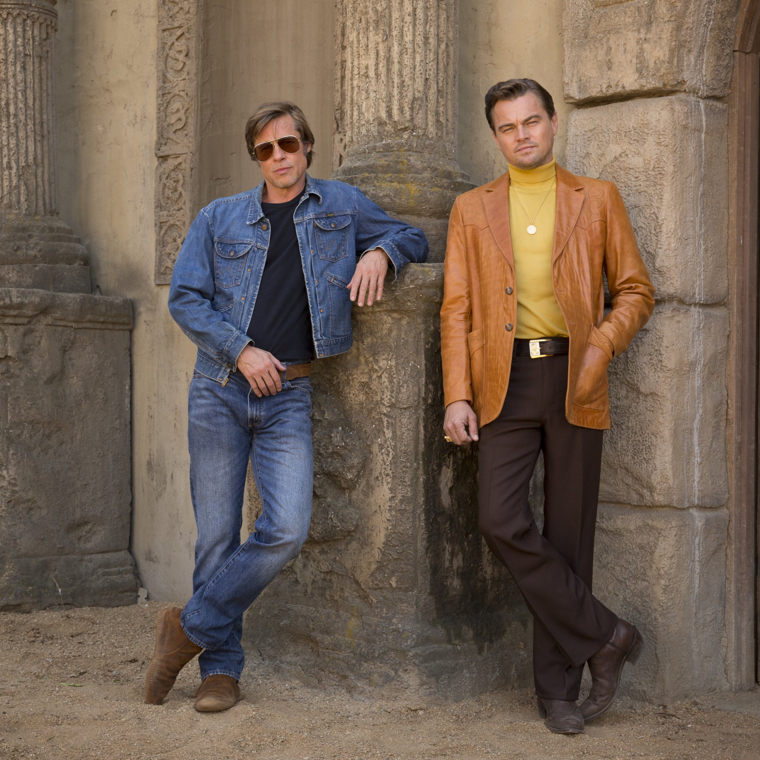 Brad Pitt is the stunt double for an over-the-hill TV Western star (Leonardo DiCaprio)