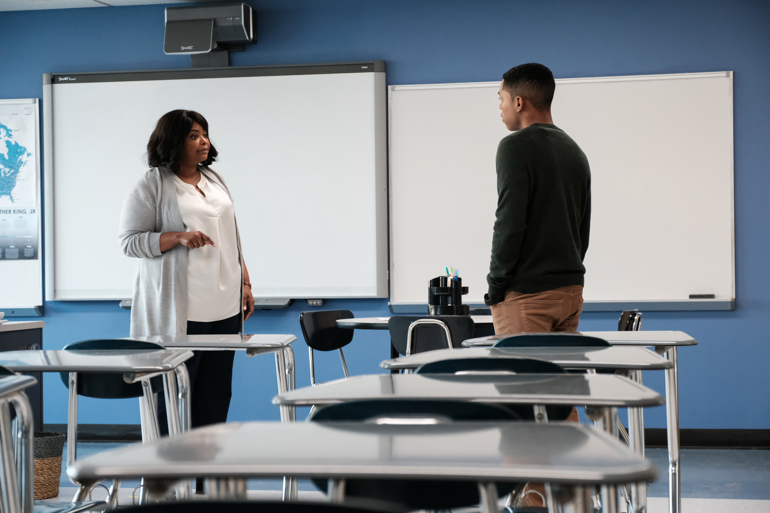 Miss Wilson (Octavia Spencer) thinks the school valedictorian Luce (Kelvin Harrison Jr.) might be a sociopath