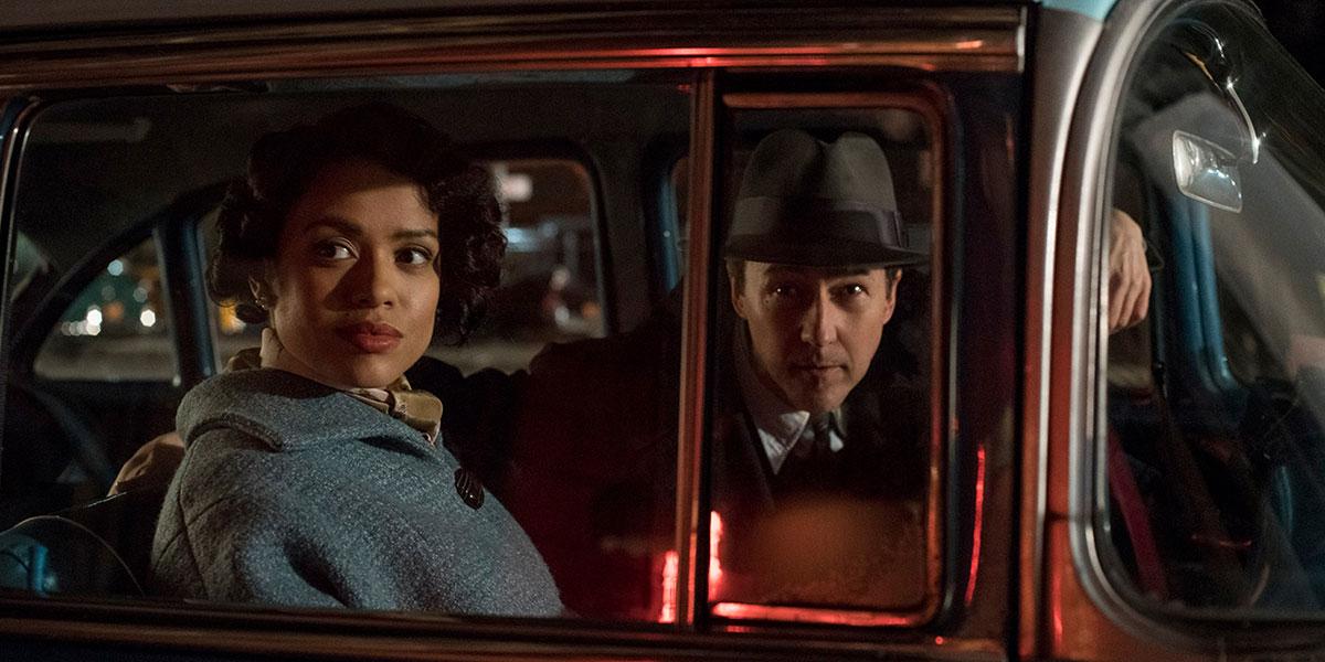 Gugu Mbatha-Raw and Edward Norton go all noir in Motherless Brooklyn