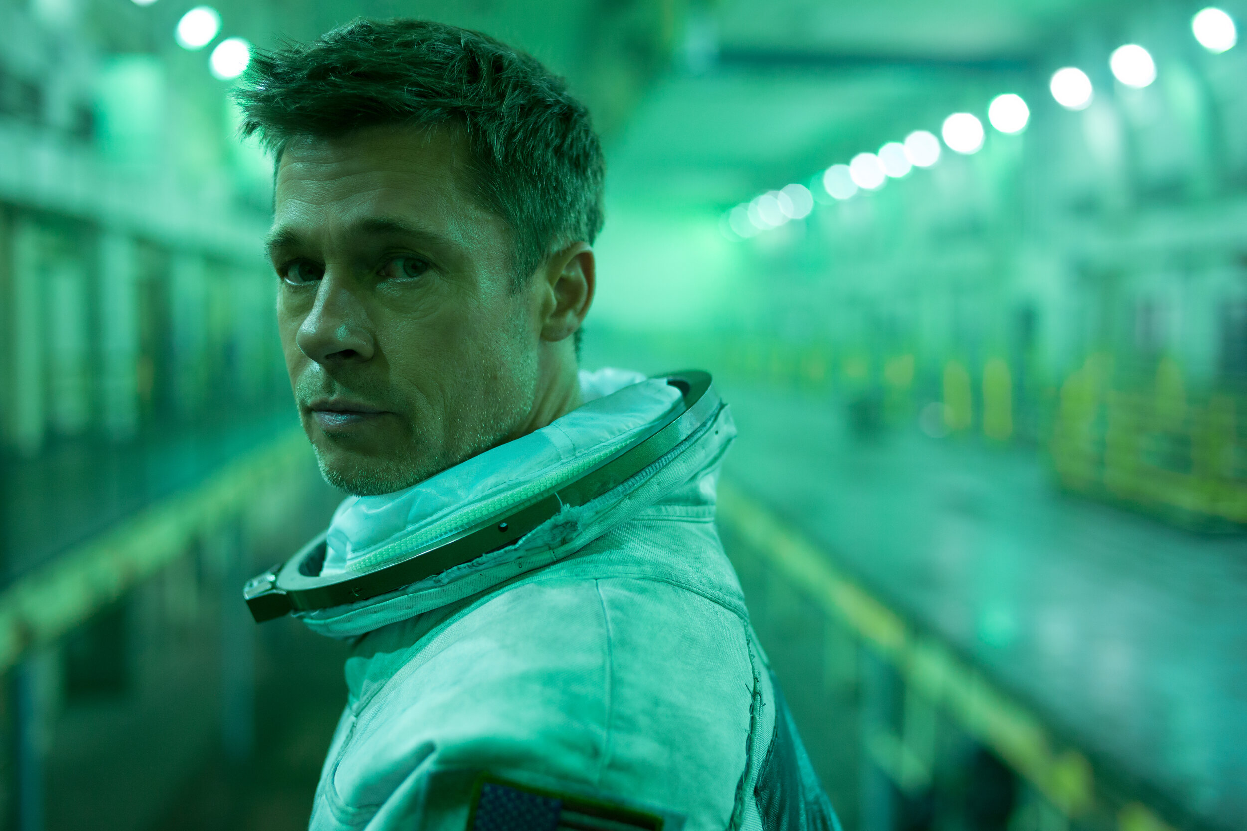 Brad Pitt is an astronaut traversing the solar system searching for his rogue father in Ad Astra