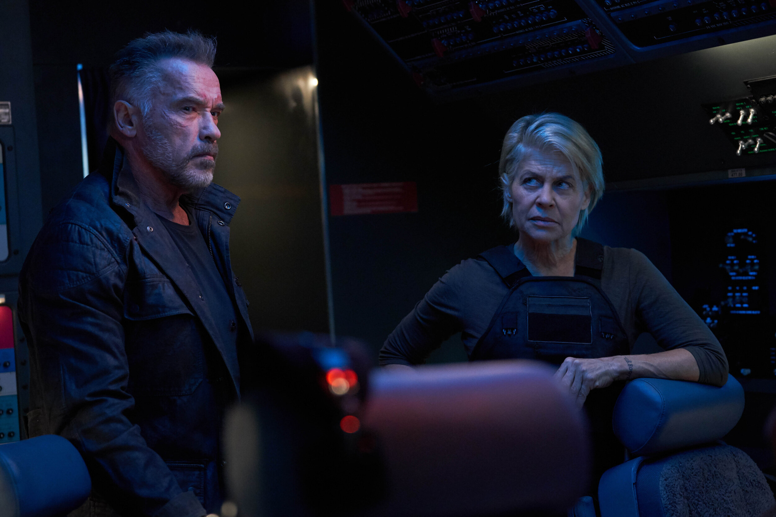 Terminator: Dark Fate. Arnold Schwarzenegger and Linda Hamilton are back!