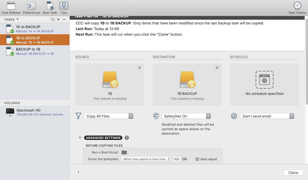 Carbon Copy Cloner, uno dei migliori software per Mac per clonare hard disk