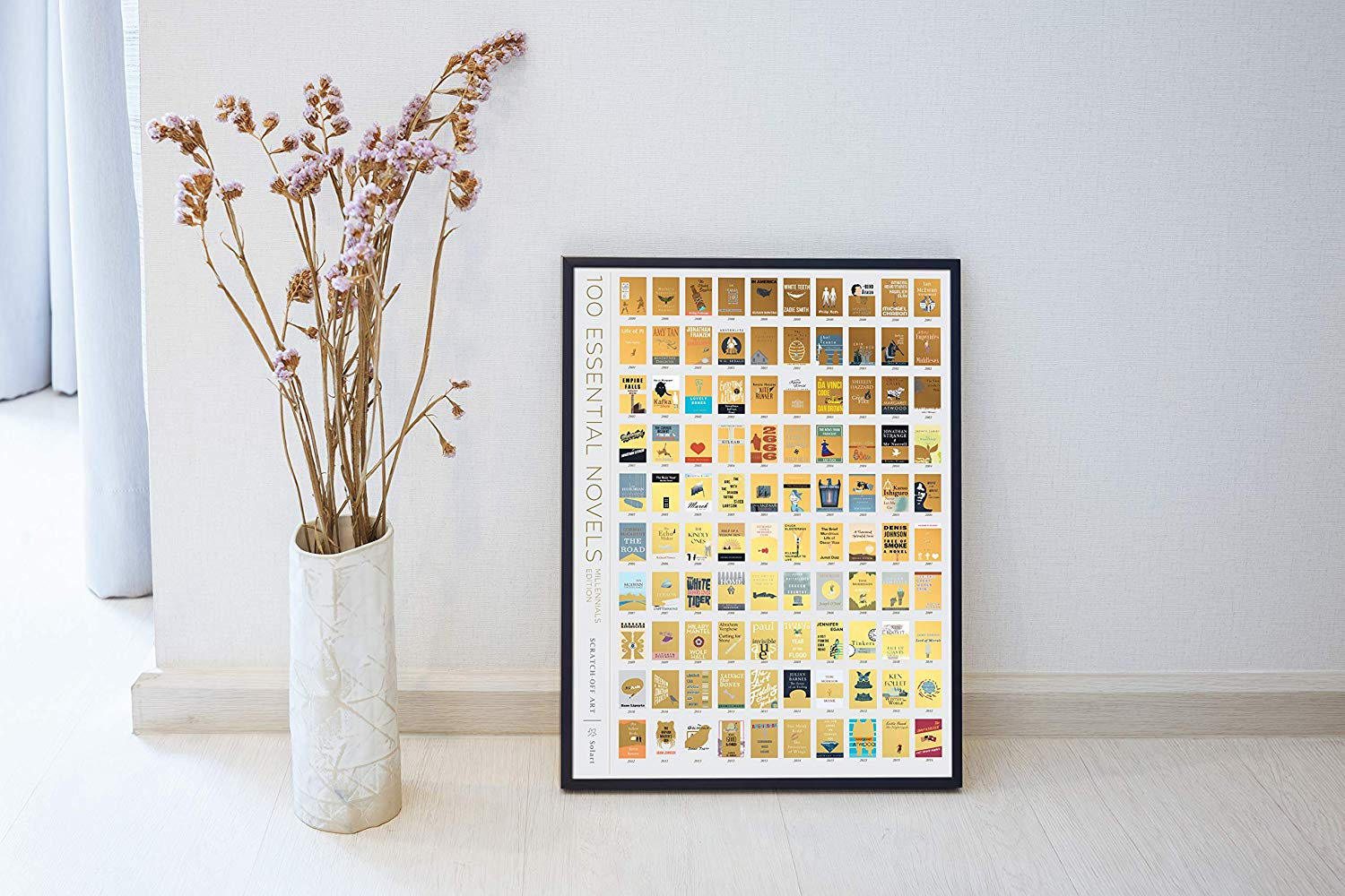 For your favorite book-worm:  a scratch-off book club poster. This poster makes great decor and serves a double purpose, a bucket list of books for the avid reader in your life.   //source
