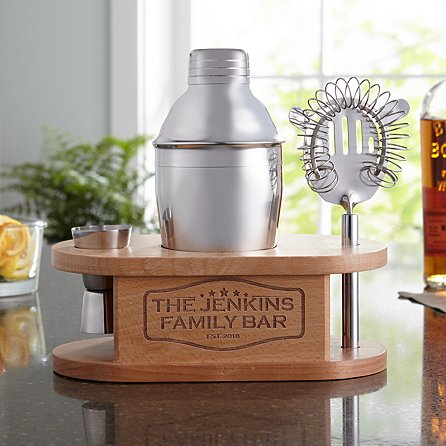 For the hostess with the mostest:  a personalized cocktail set! This is great for all the get-togethers your favorite hostess puts on AND what makes it even better is that you can add a personal touch!   //source