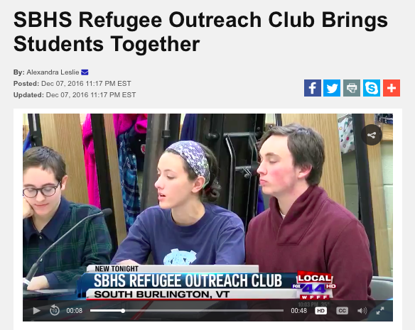 My Champlain Vally- Local 44 News:  SB R.O.C Students talk about the importance about building relationships with people of other cultures.