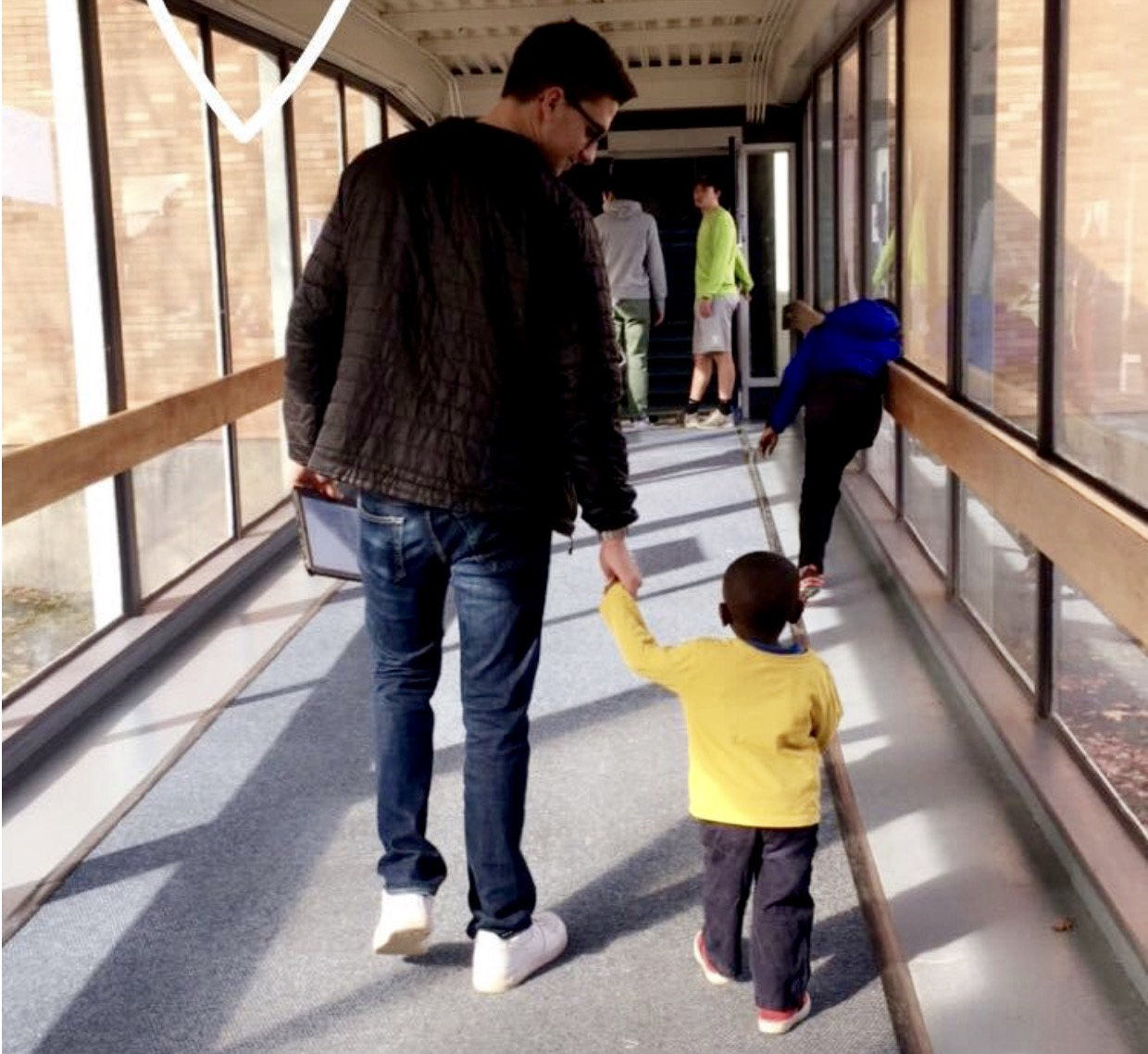 One of our youngest members of the Heritage Learning Program walking with SB R.O.C. leader 2016